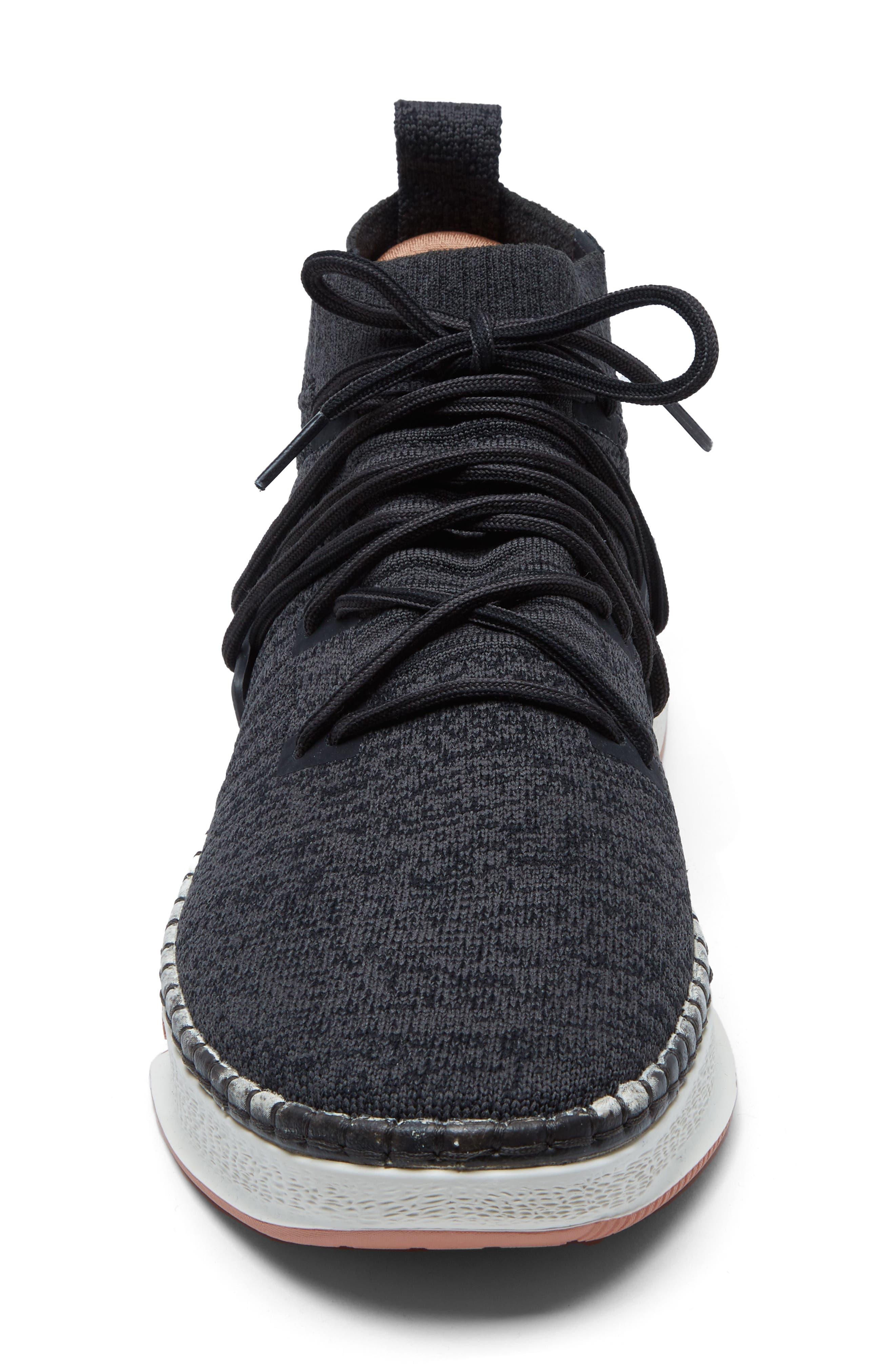 Delta Shibori Sneaker,                             Alternate thumbnail 4, color,                             Black
