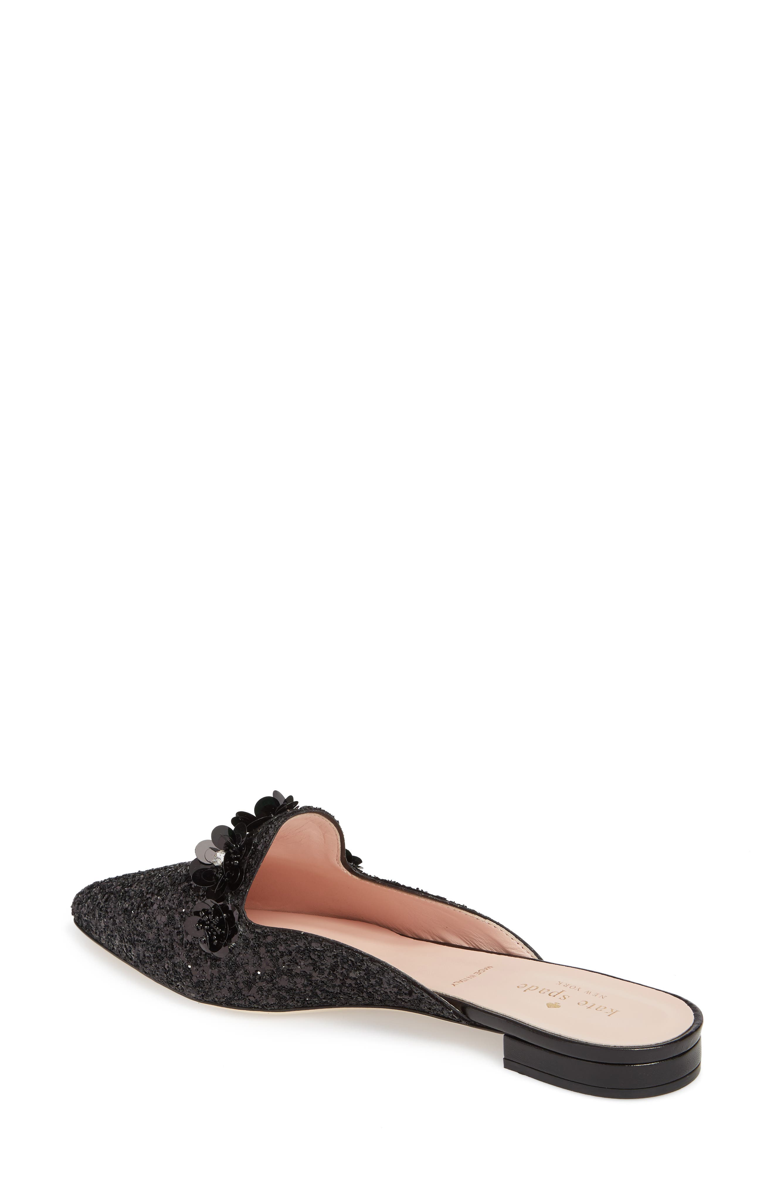 betty mule,                             Alternate thumbnail 2, color,                             Black Glitter