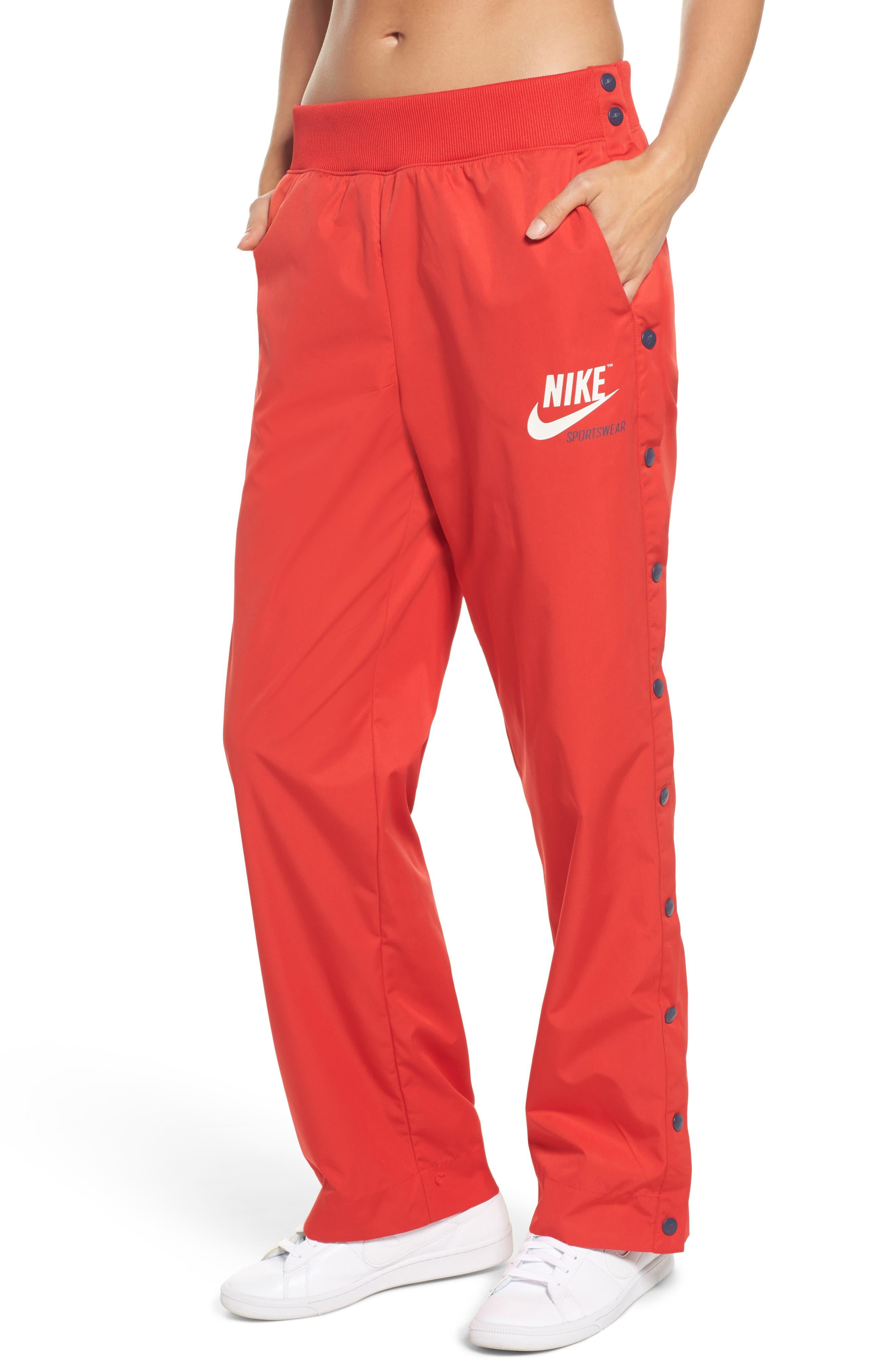 Sportswear Archive Snap Track Pants,                             Main thumbnail 1, color,                             University Red/ Thunder Blue