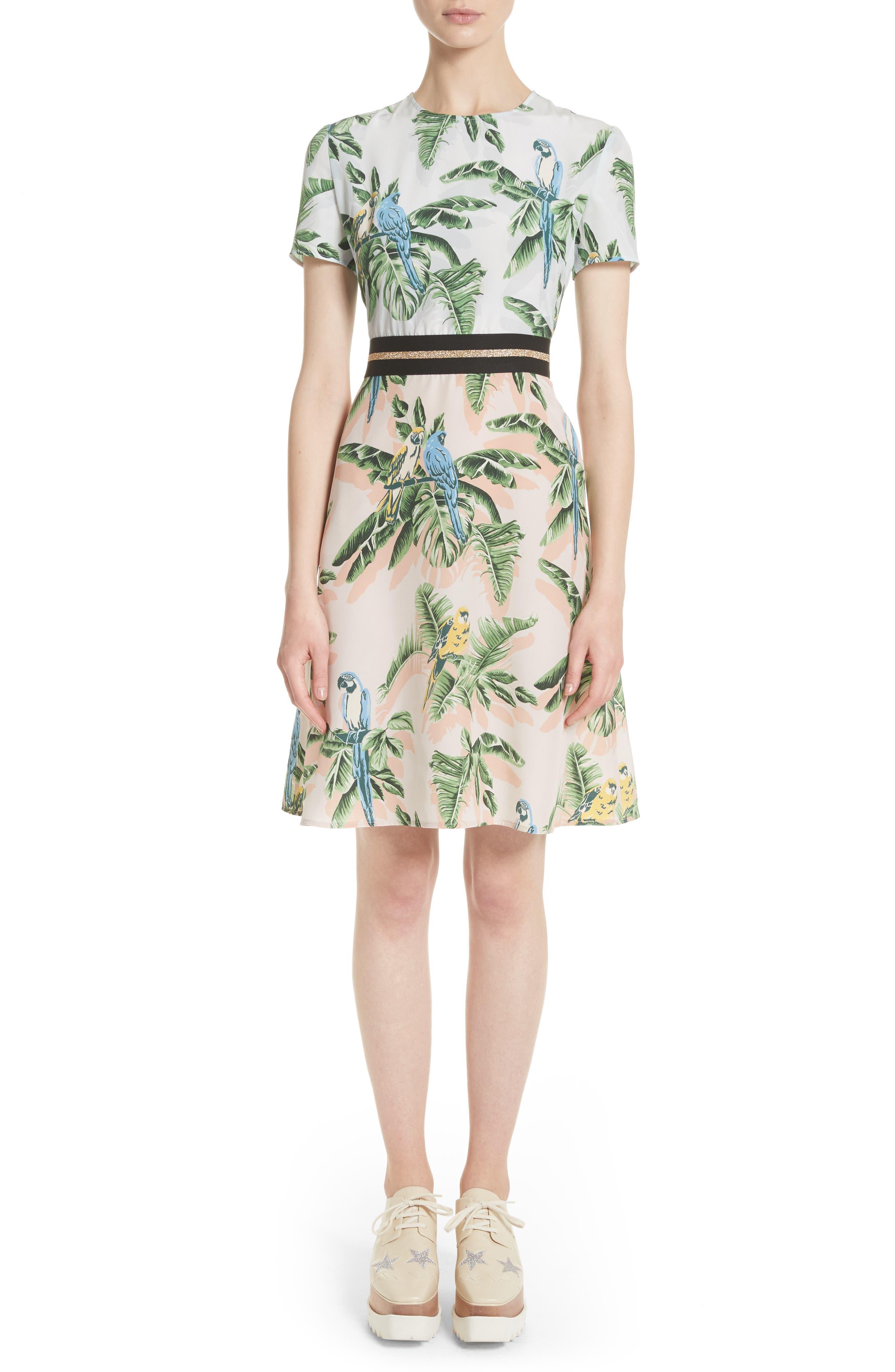 Main Image - Stella McCartney Bird of Paradise Silk Crêpe de Chine Dress