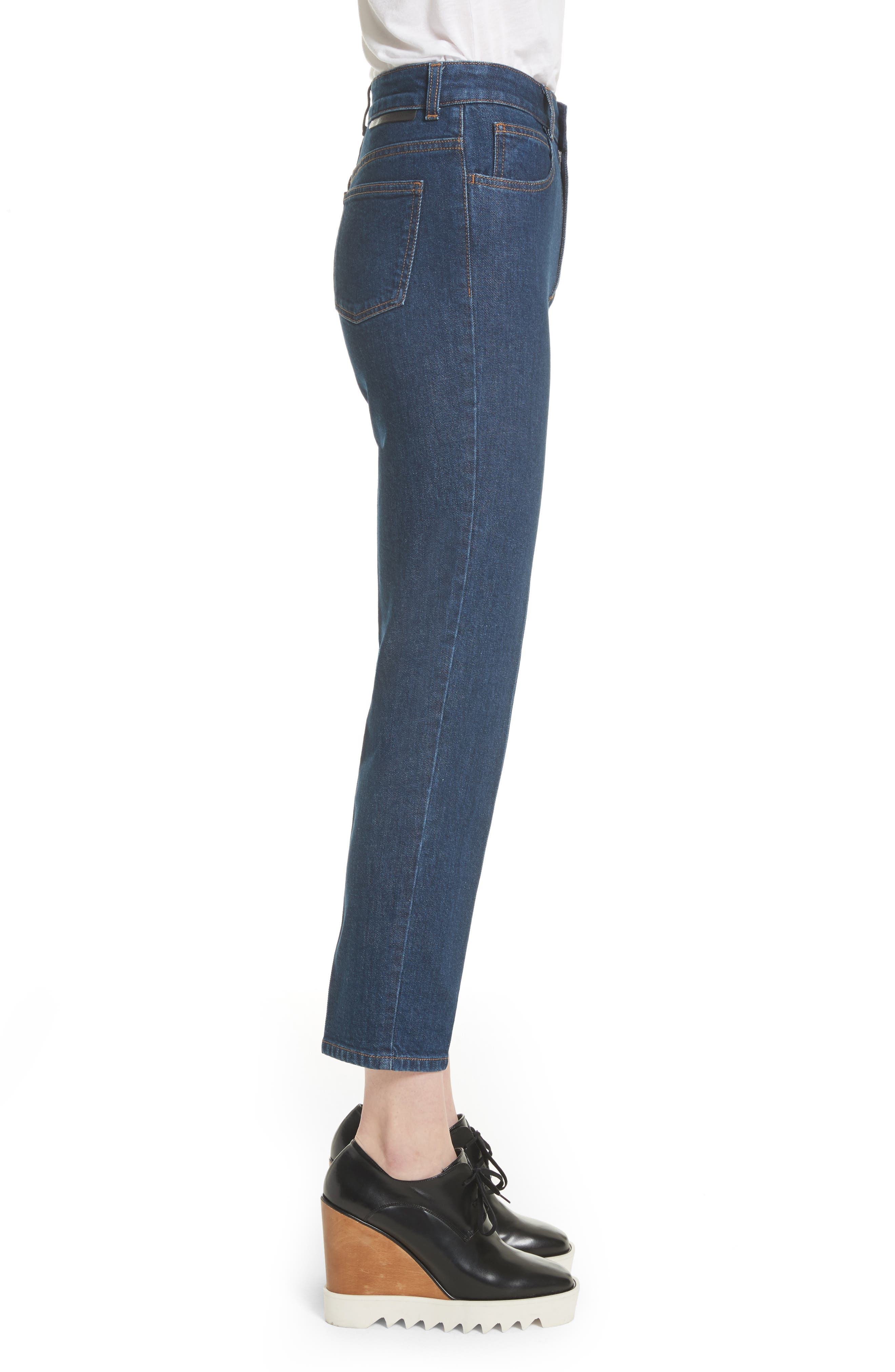 Crop Skinny Jeans,                             Alternate thumbnail 3, color,                             Midnight