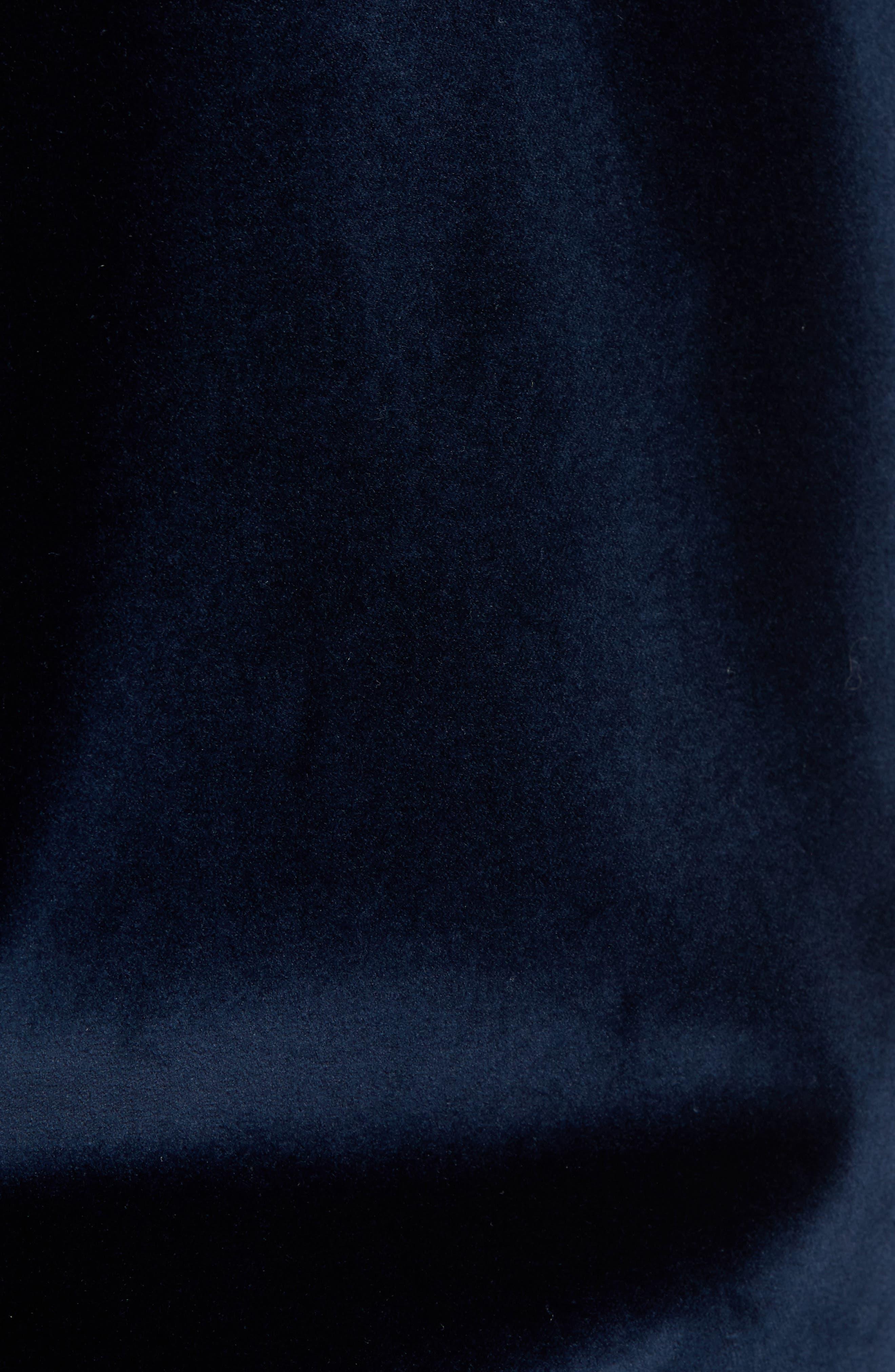 Haydon Velvet Bomber Jacket,                             Alternate thumbnail 5, color,                             Teal