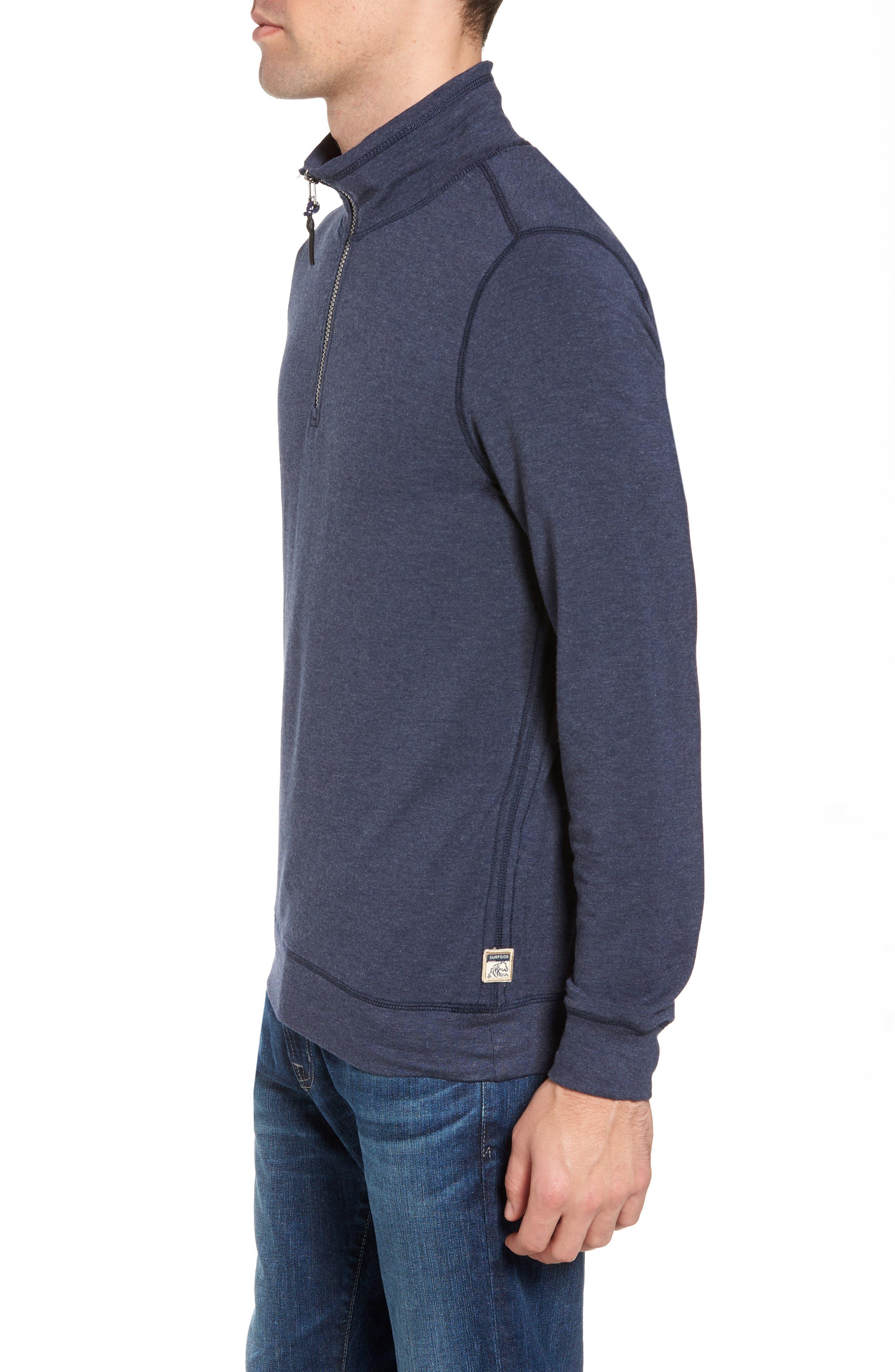 Alternate Image 3  - Surfside Supply Brushback Quarter Zip Pullover