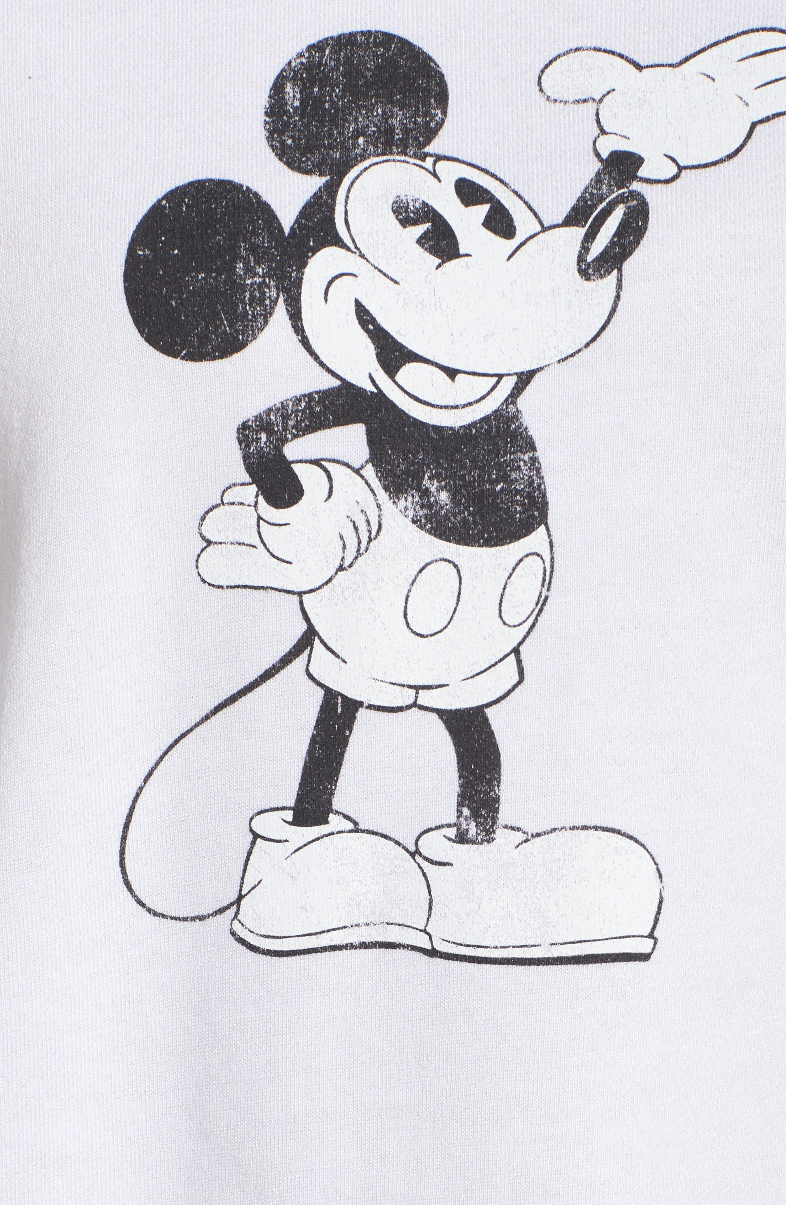 Alternate Image 6  - David Lerner Mickey Mouse Crop Sweatshirt