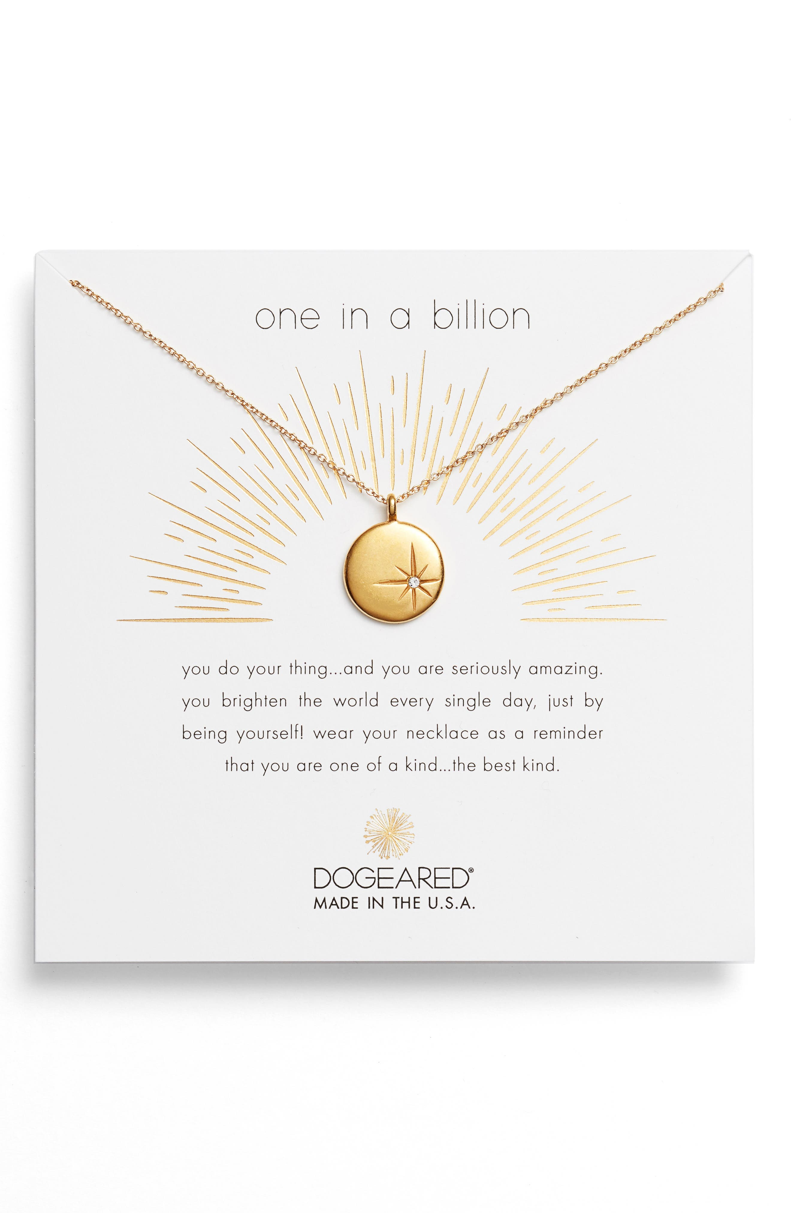Alternate Image 1 Selected - Dogeared One in a Billion Pendant Necklace