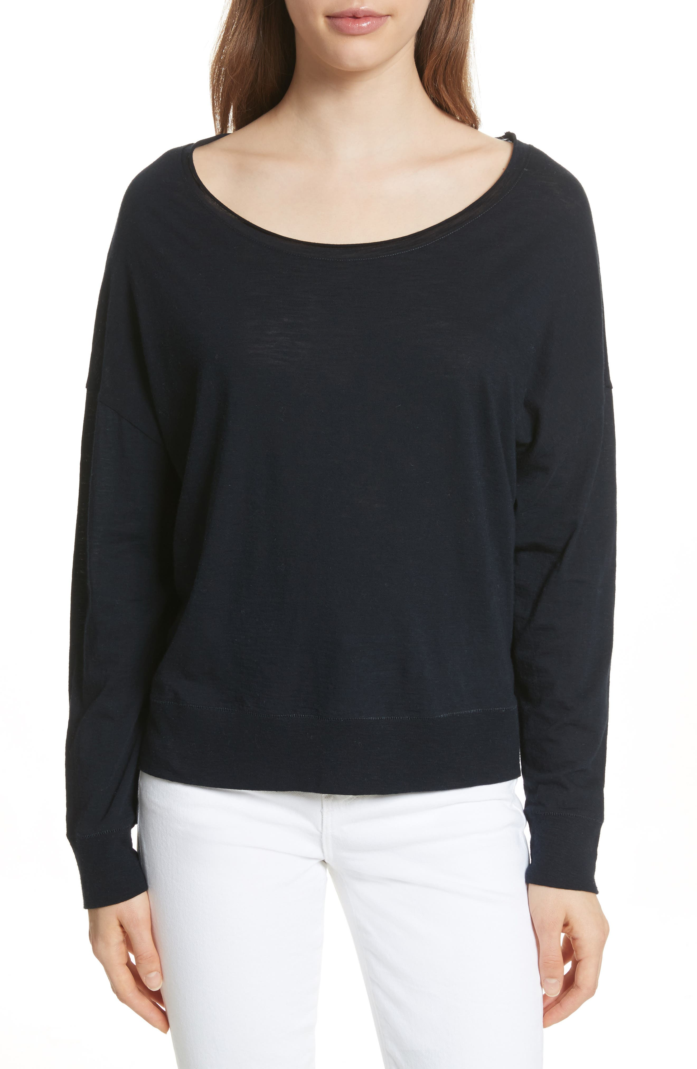 Vince Boat Neck Cotton Sweater