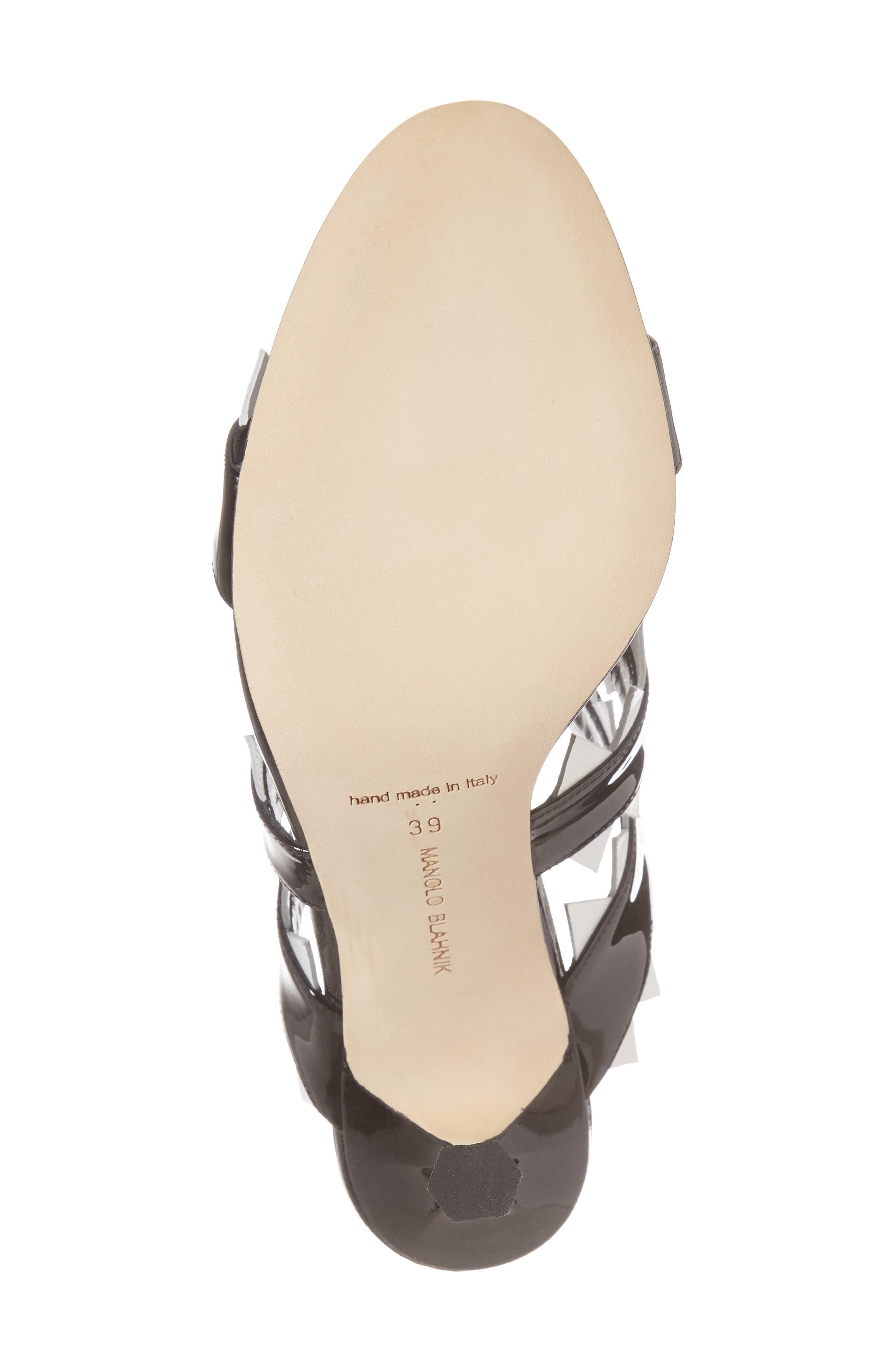 Arpege Mule Sandal,                             Alternate thumbnail 6, color,                             Black/ White
