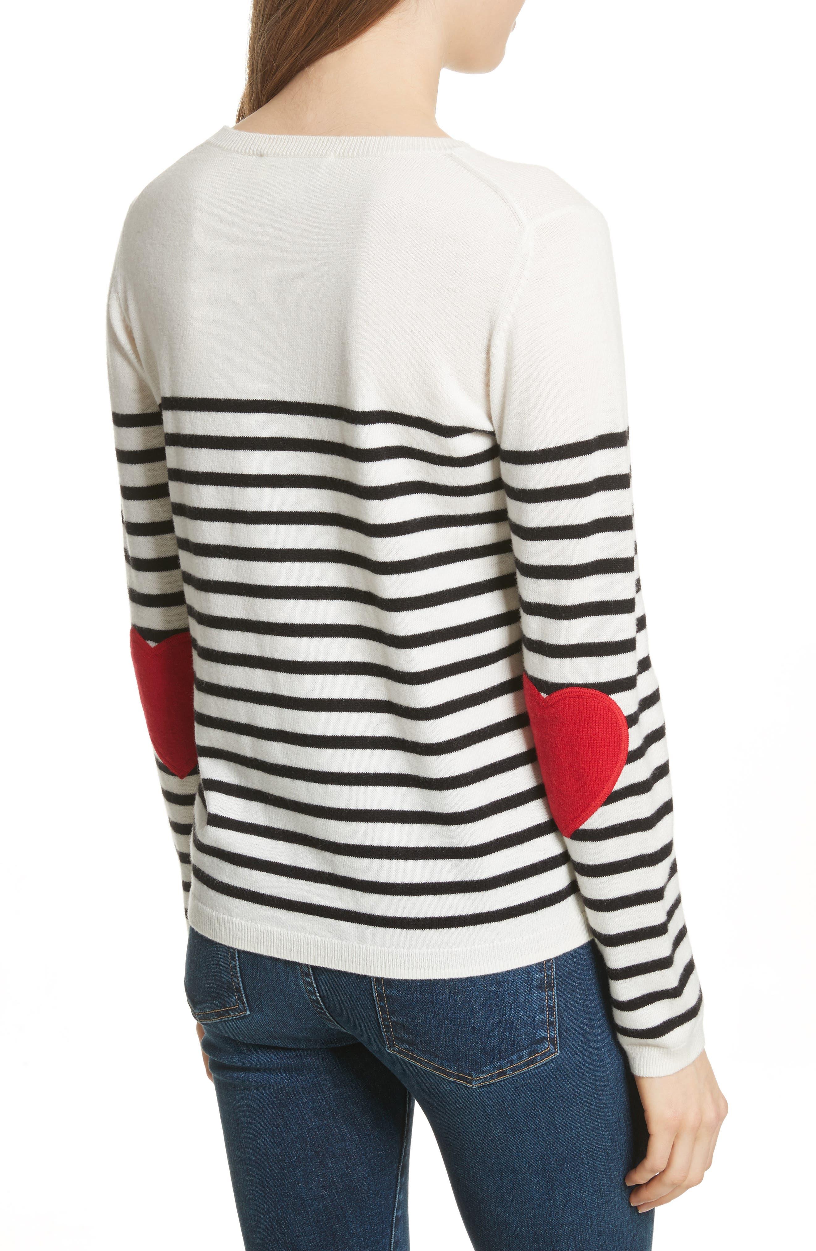 Alternate Image 2  - kate spade new york heart patch sweater