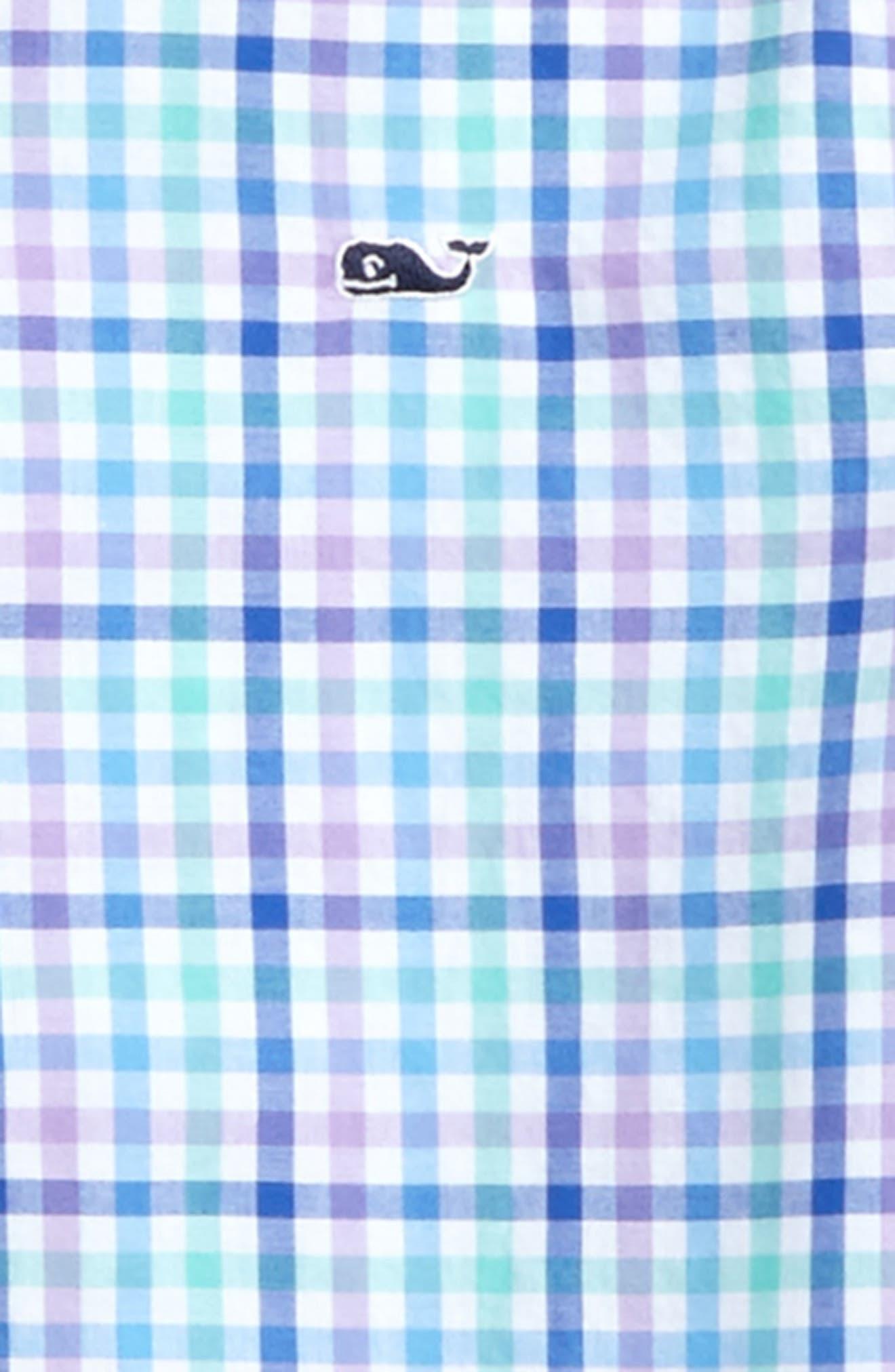 Alternate Image 2  - vineyard vines Gaspar Gingham Whale Shirt (Toddler Boys & Little Boys)