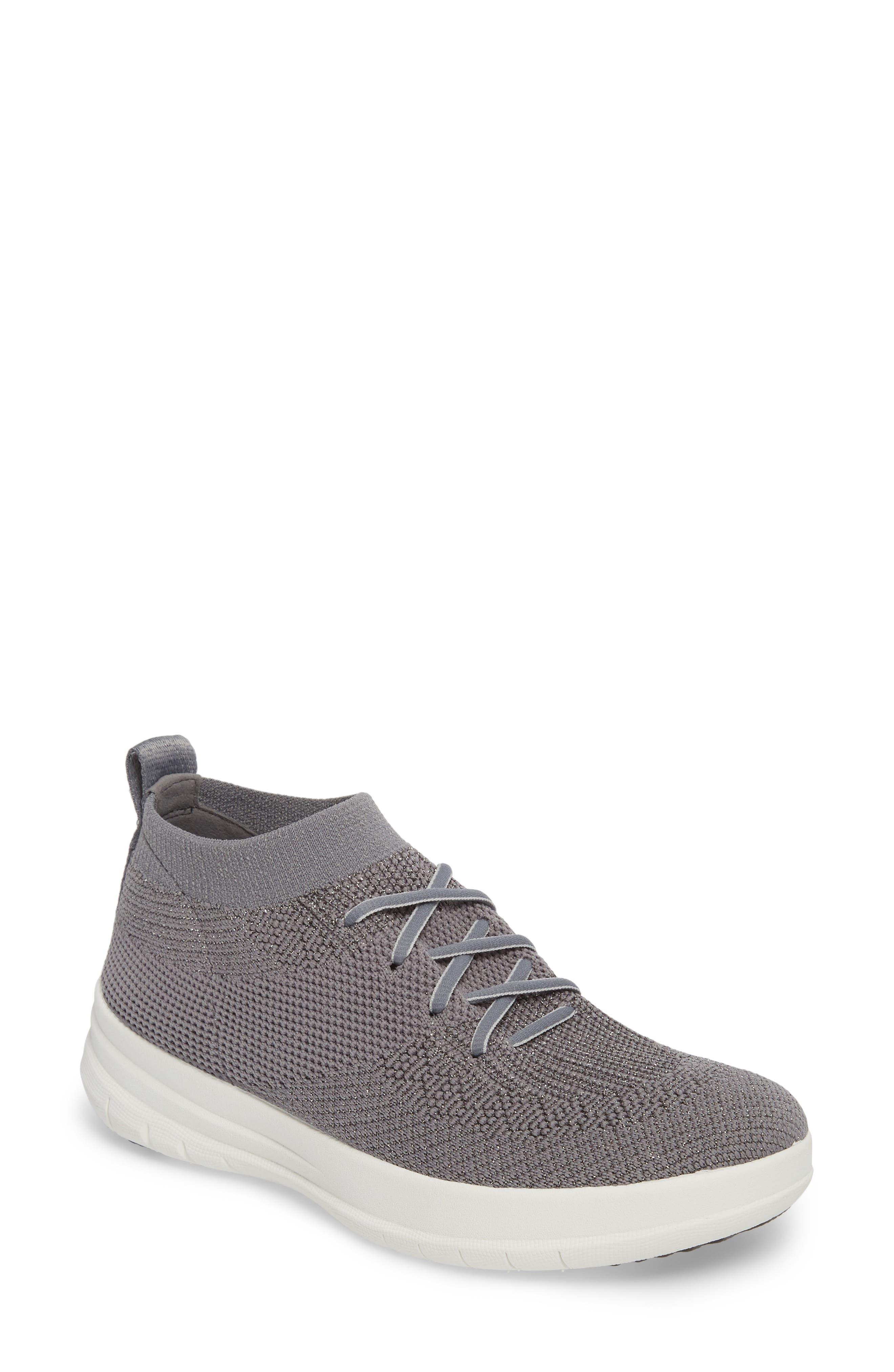 Alternate Image 1 Selected - FitFlop Uberknit™ Slip-On High-Top Sneaker (Women)