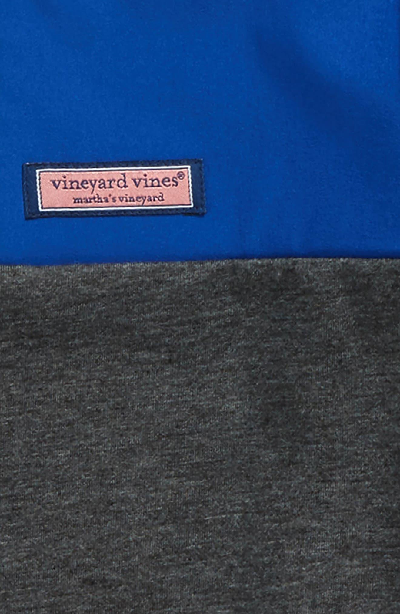Shep Colorblock Quarter Zip Pullover,                             Alternate thumbnail 2, color,                             Charcoal