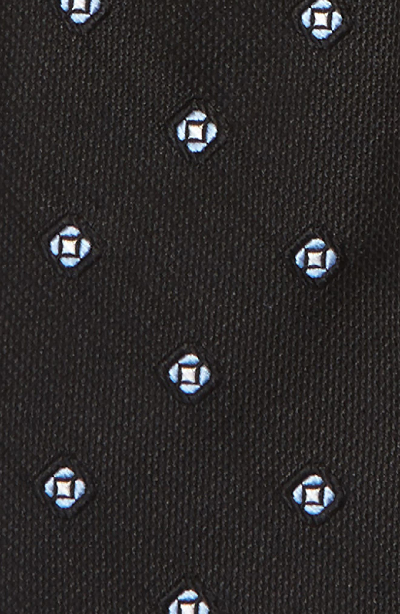 Medallion Silk Zip Tie,                             Alternate thumbnail 2, color,                             Black