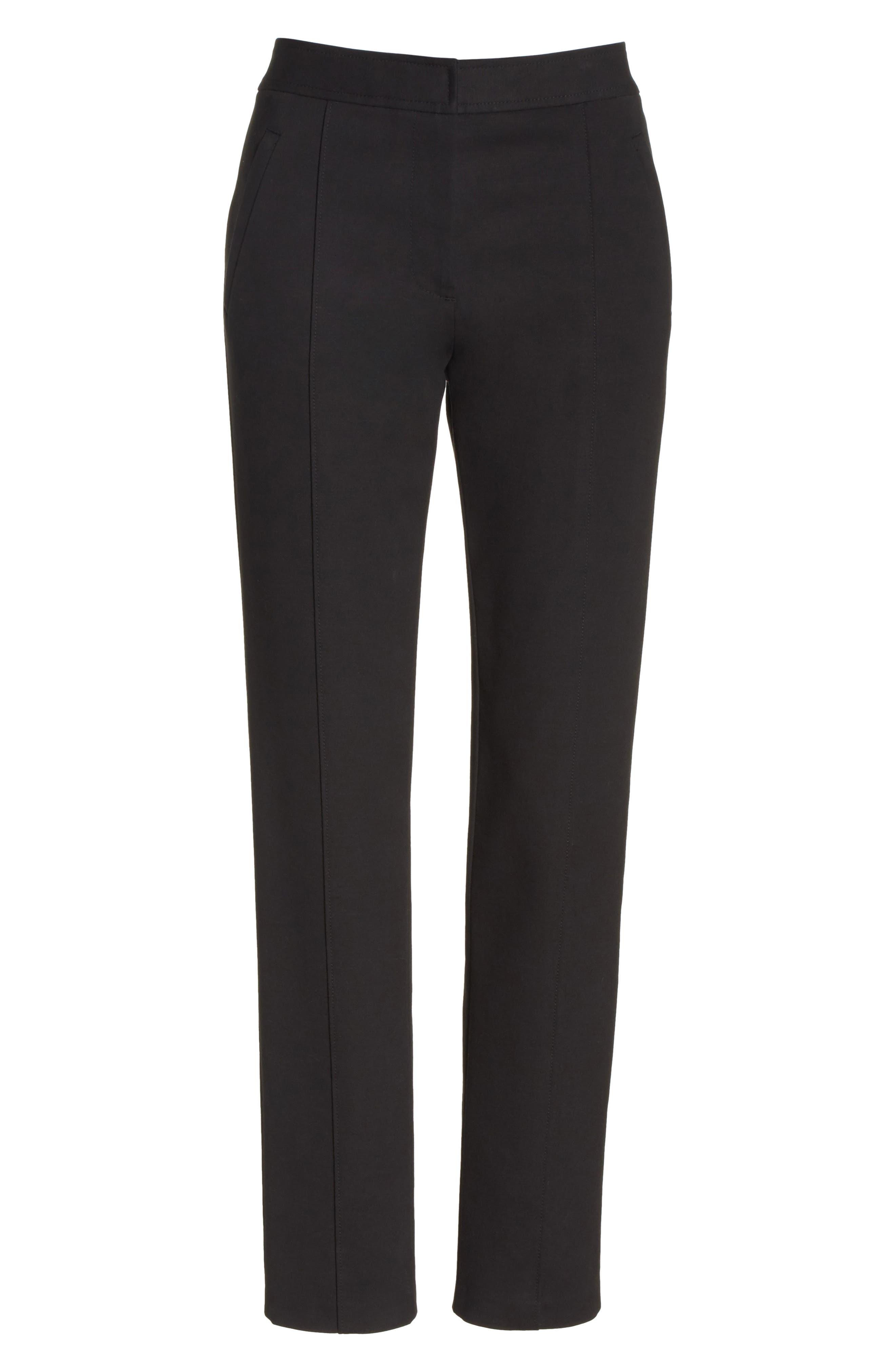 Vanner Slim Leg Ankle Pants,                             Alternate thumbnail 6, color,                             Black