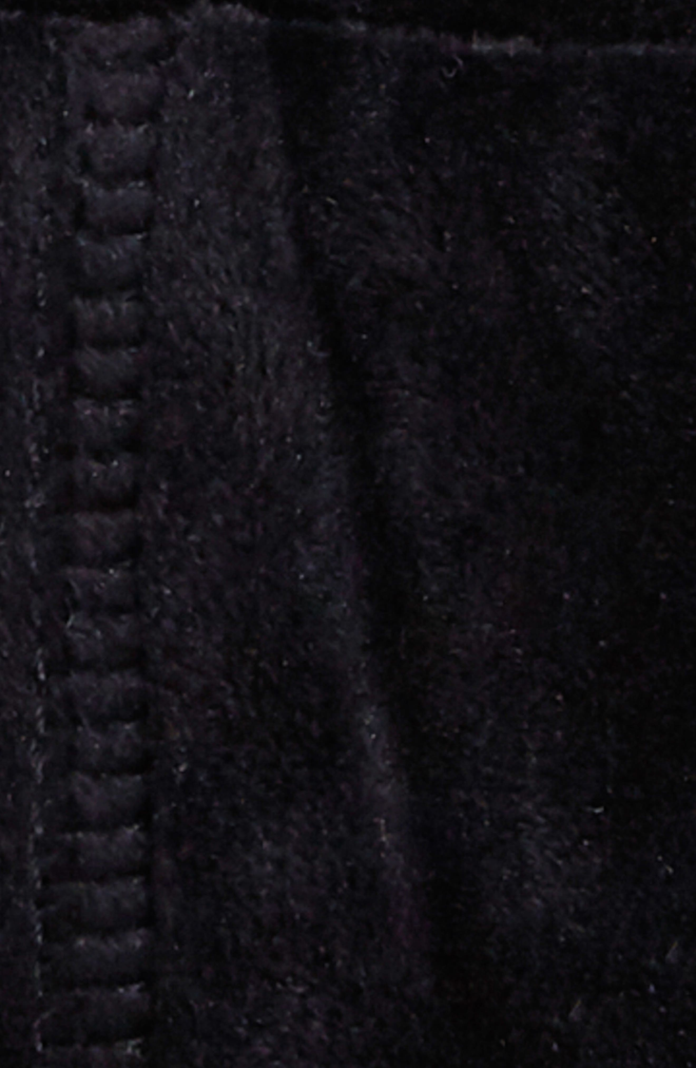 Libson Braided Crop Hoodie,                             Alternate thumbnail 4, color,                             Noir Velour