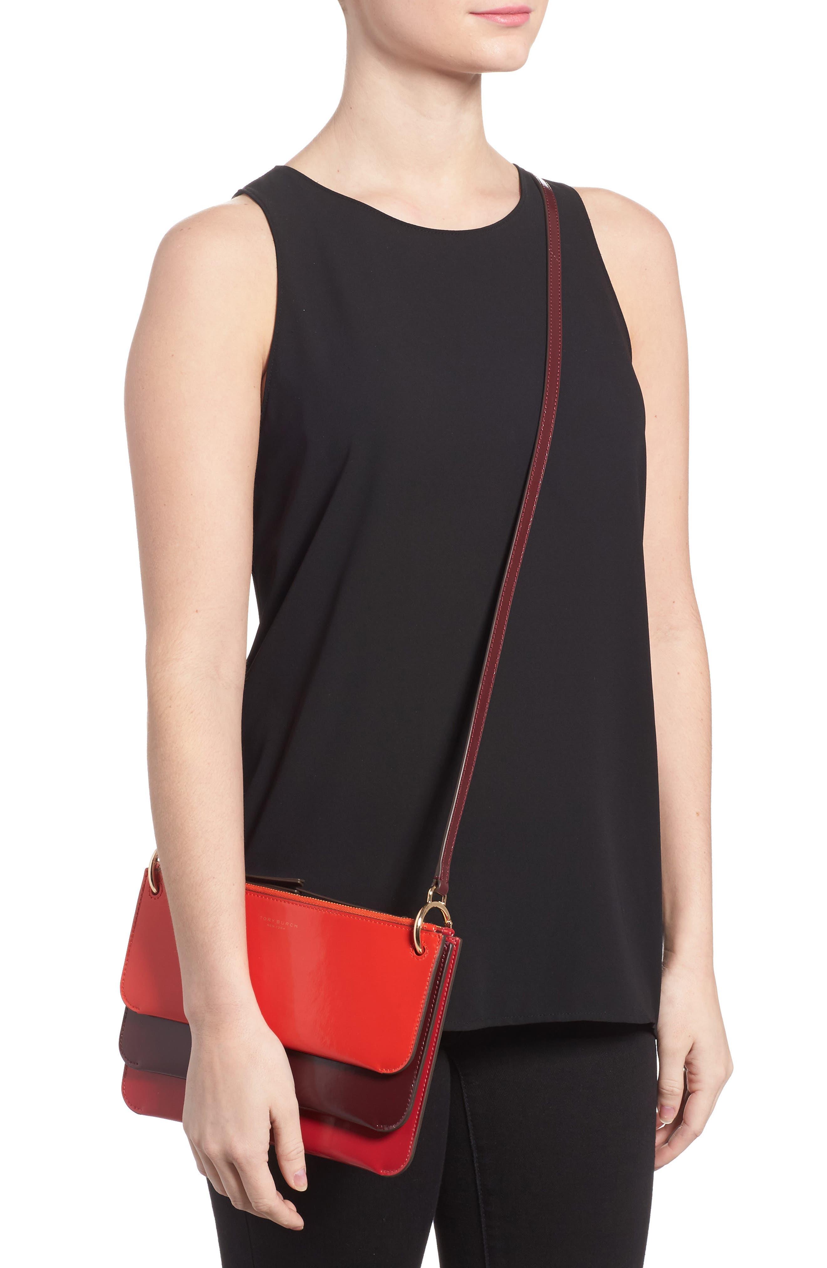 Alternate Image 2  - Tory Burch Leather Accordion Crossbody Bag