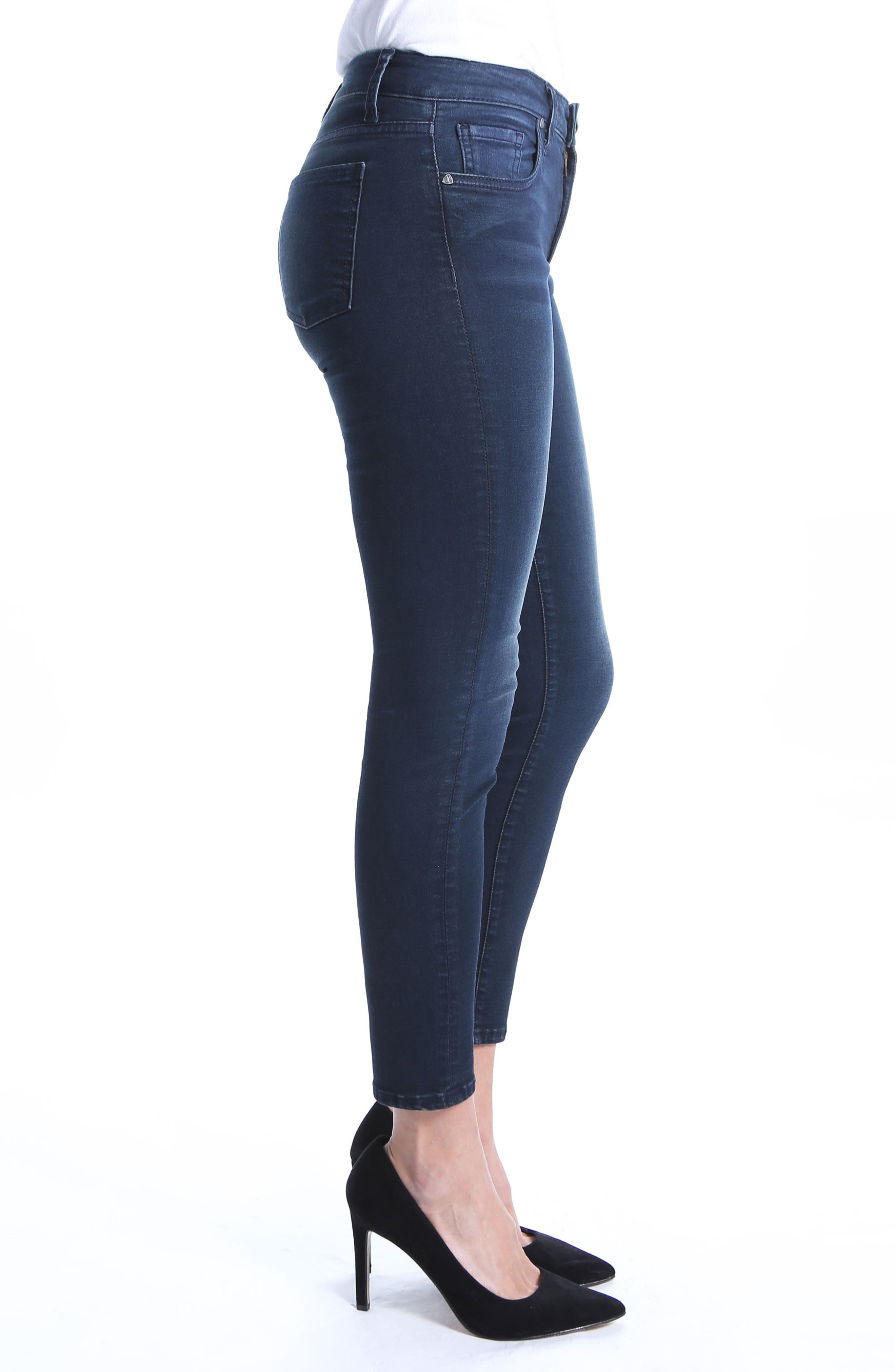 Donna High Rise Ankle Skinny Jeans,                             Alternate thumbnail 3, color,                             Recognizable