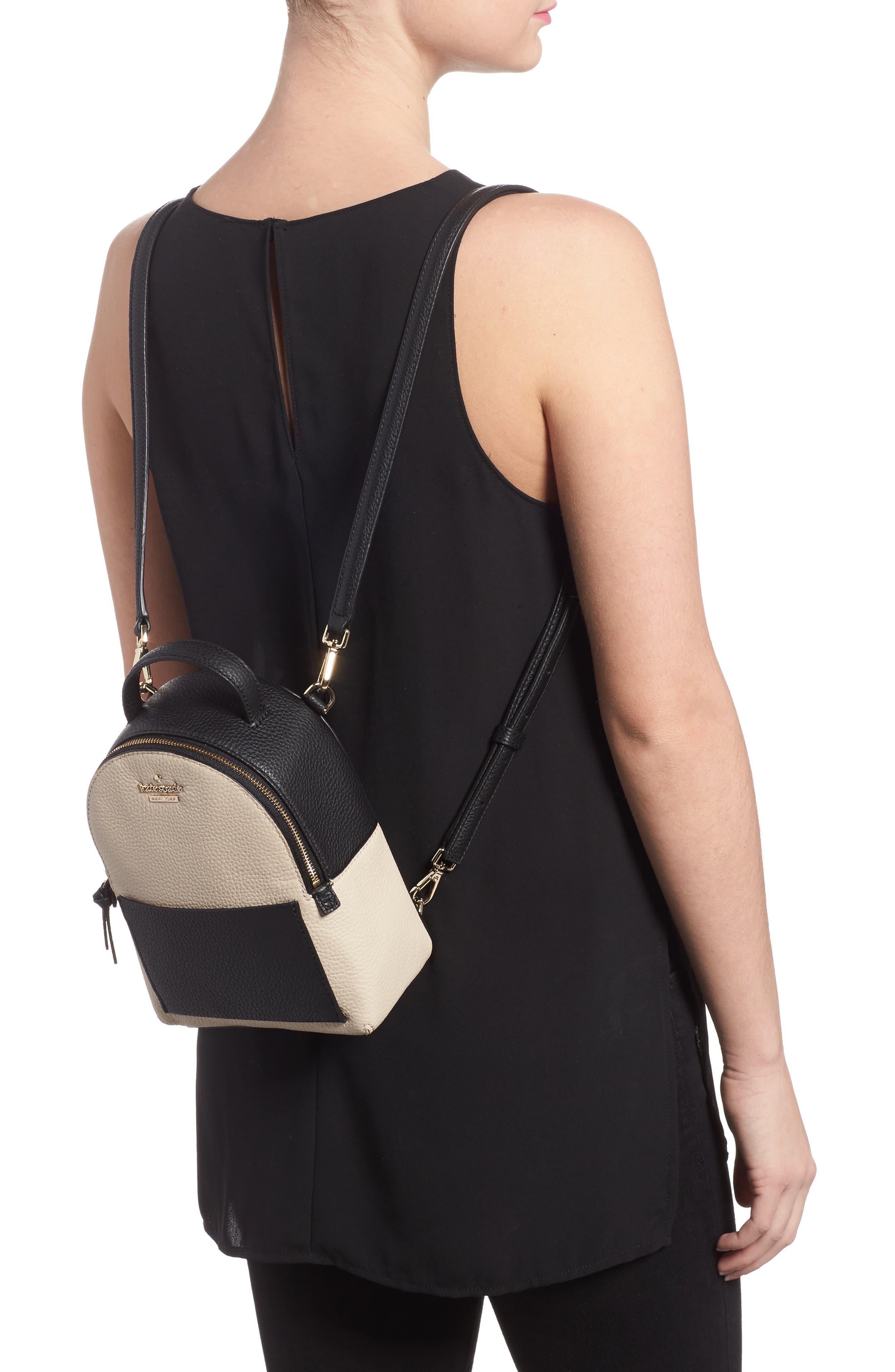jackson street merry convertible leather backpack,                             Alternate thumbnail 2, color,                             Black/ Soft Porcelain