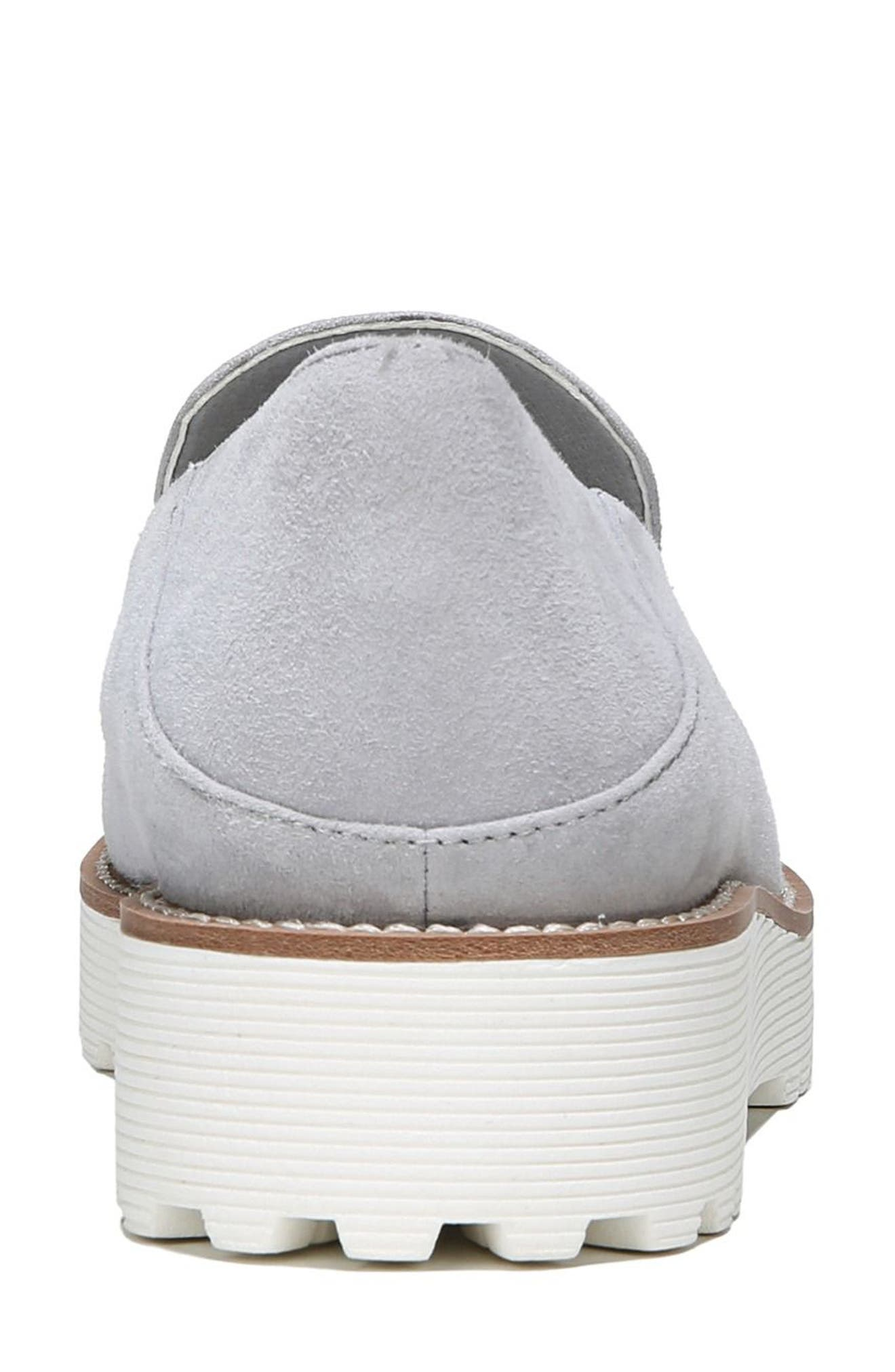 Jaxton Loafer,                             Alternate thumbnail 6, color,                             Artic Grey Suede
