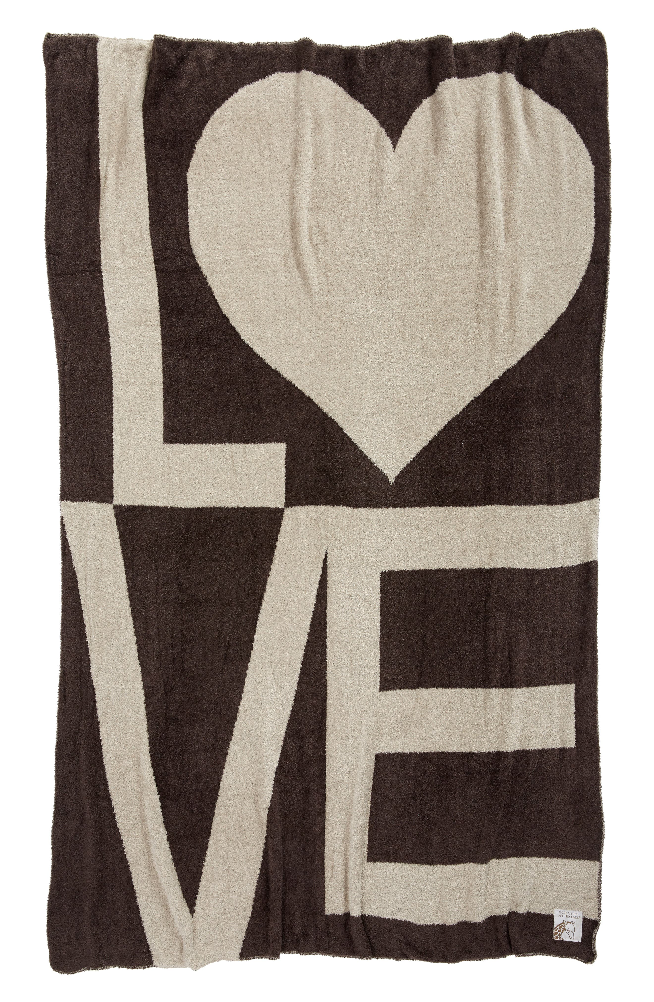 Dolce Love Throw,                             Main thumbnail 1, color,                             Chocolate/ Flax