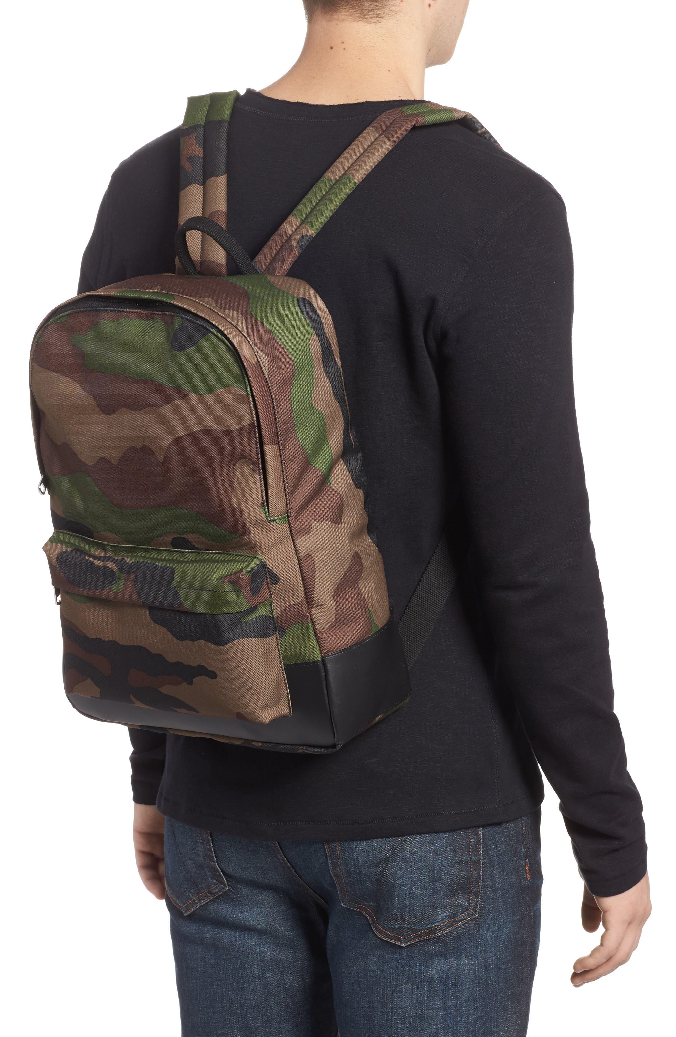 Mickael Camo Print Backpack,                             Alternate thumbnail 2, color,                             Kaki Militaire Jac