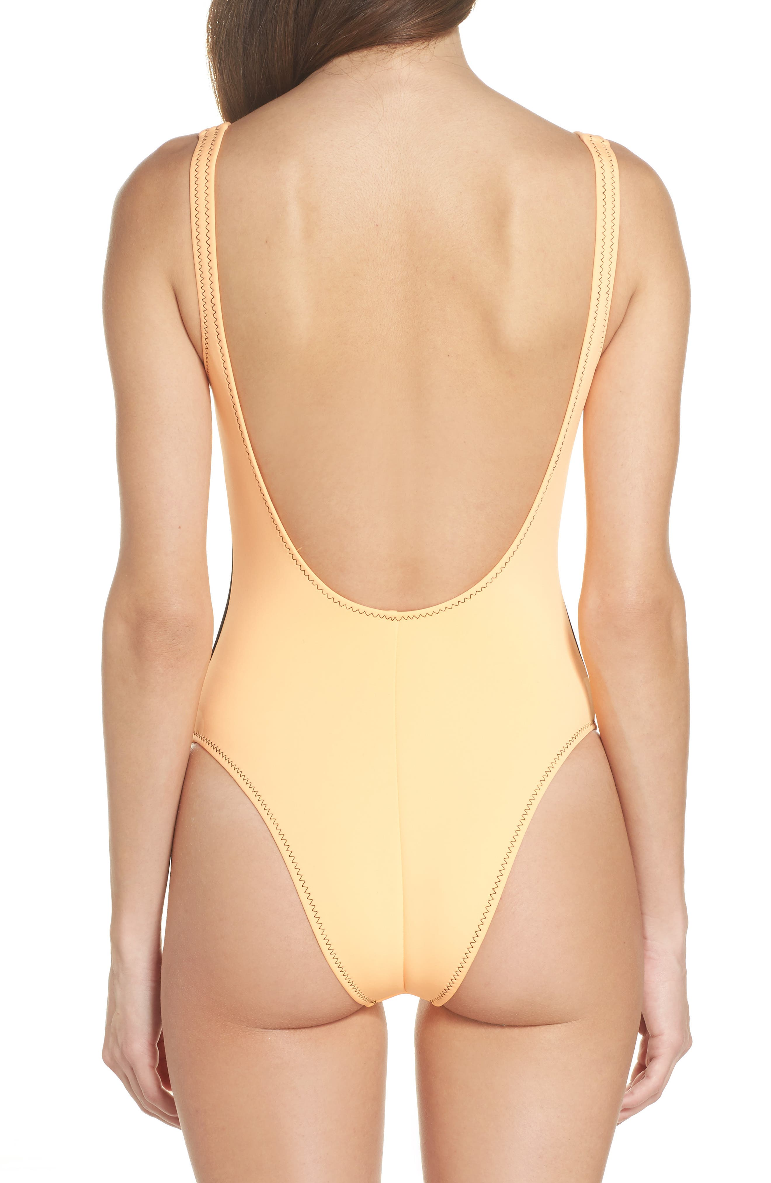 Time After Time One-Piece Swimsuit,                             Alternate thumbnail 2, color,                             Mango