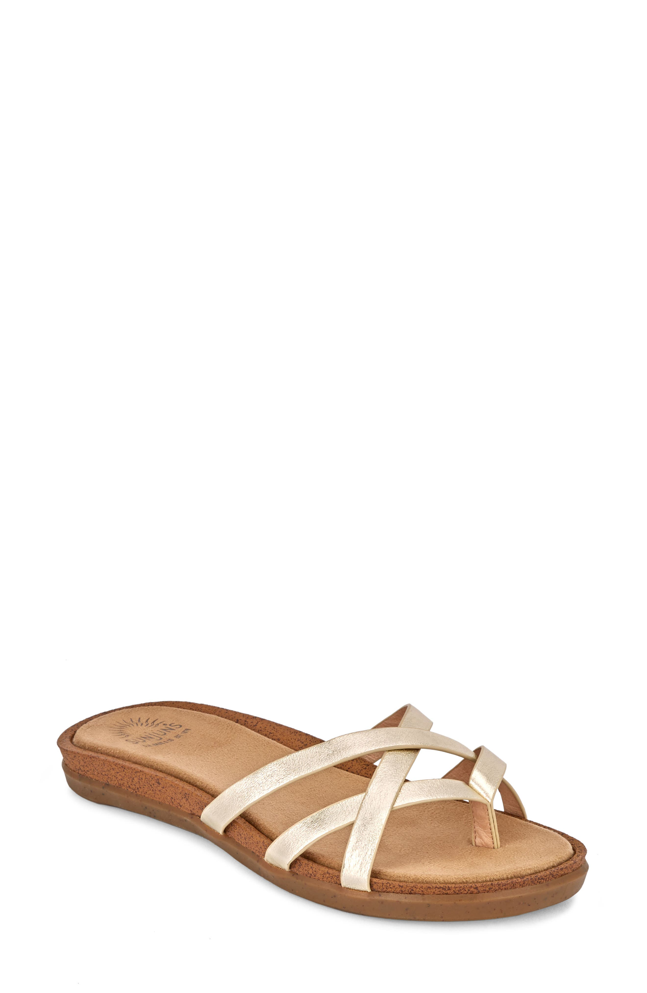 G.H. BASS & CO. Sharon Sandal in Gold Leather