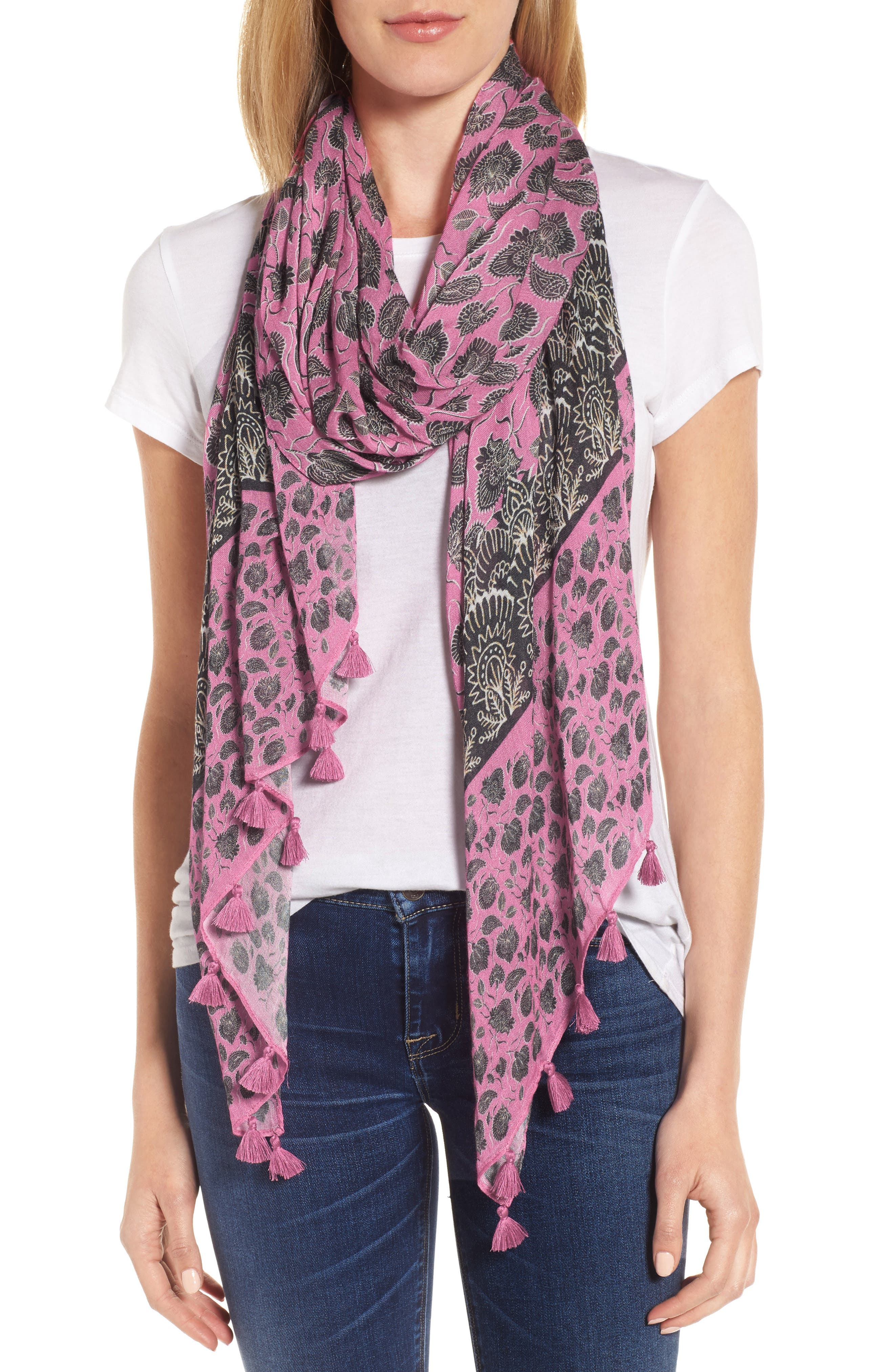 Main Image - Rebecca Minkoff Lotus Paisley Oblong Scarf
