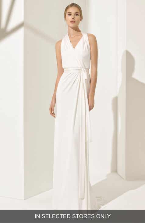 Rosa Clará Couture Pamela Silk Knit Column Gown 06e44c16b61d