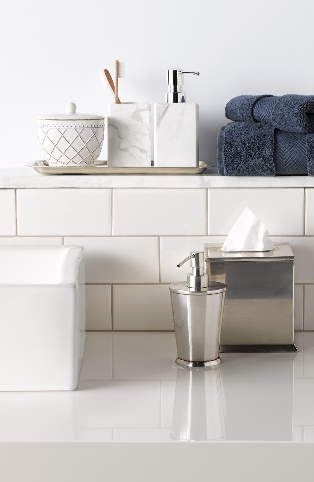 Alternate Image 2  - Waterworks Studio 'Luna' White Marble Soap Dispenser (Online Only)