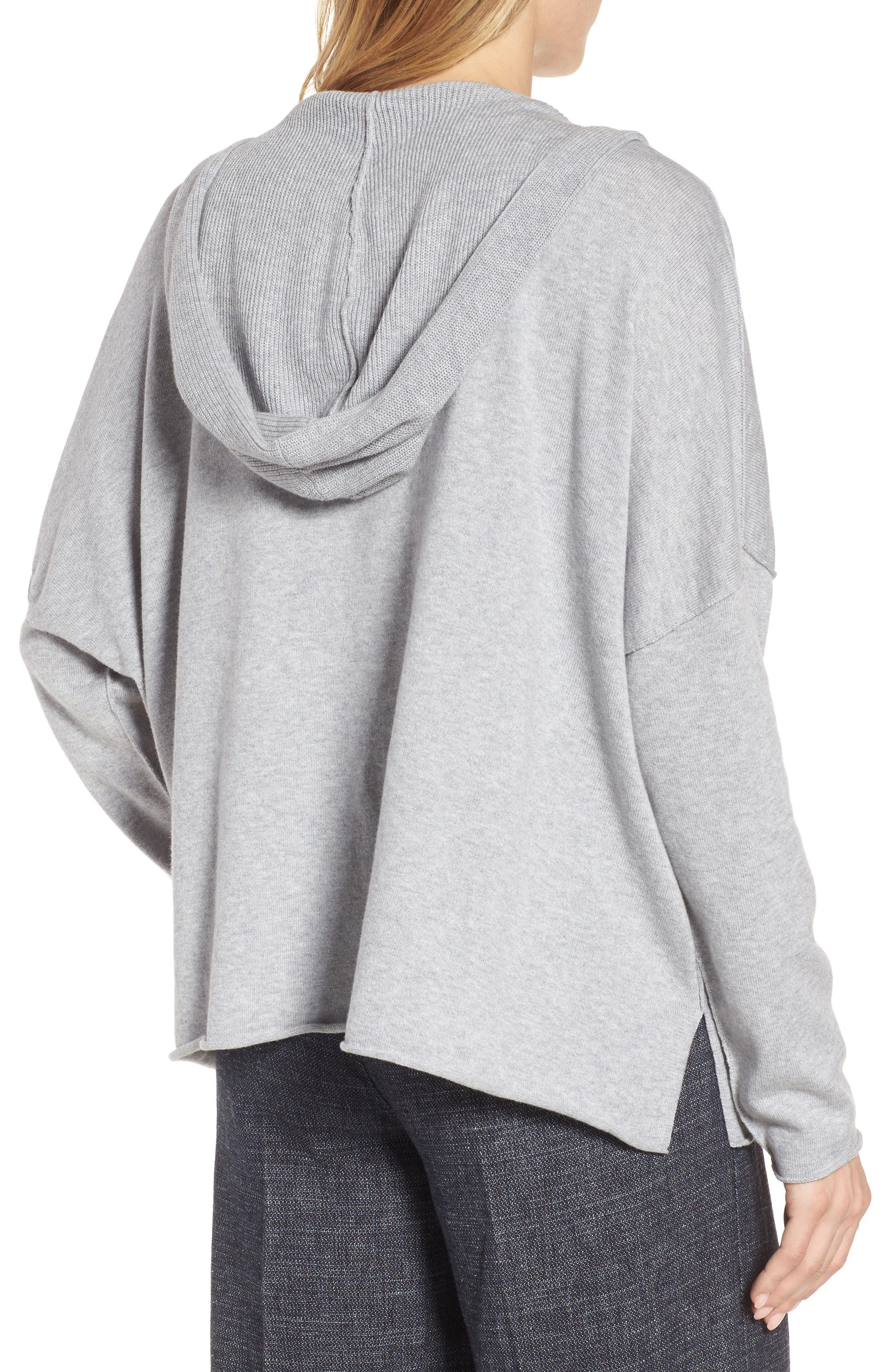 Alternate Image 2  - Eileen Fisher Hooded Organic Cotton Box Sweater
