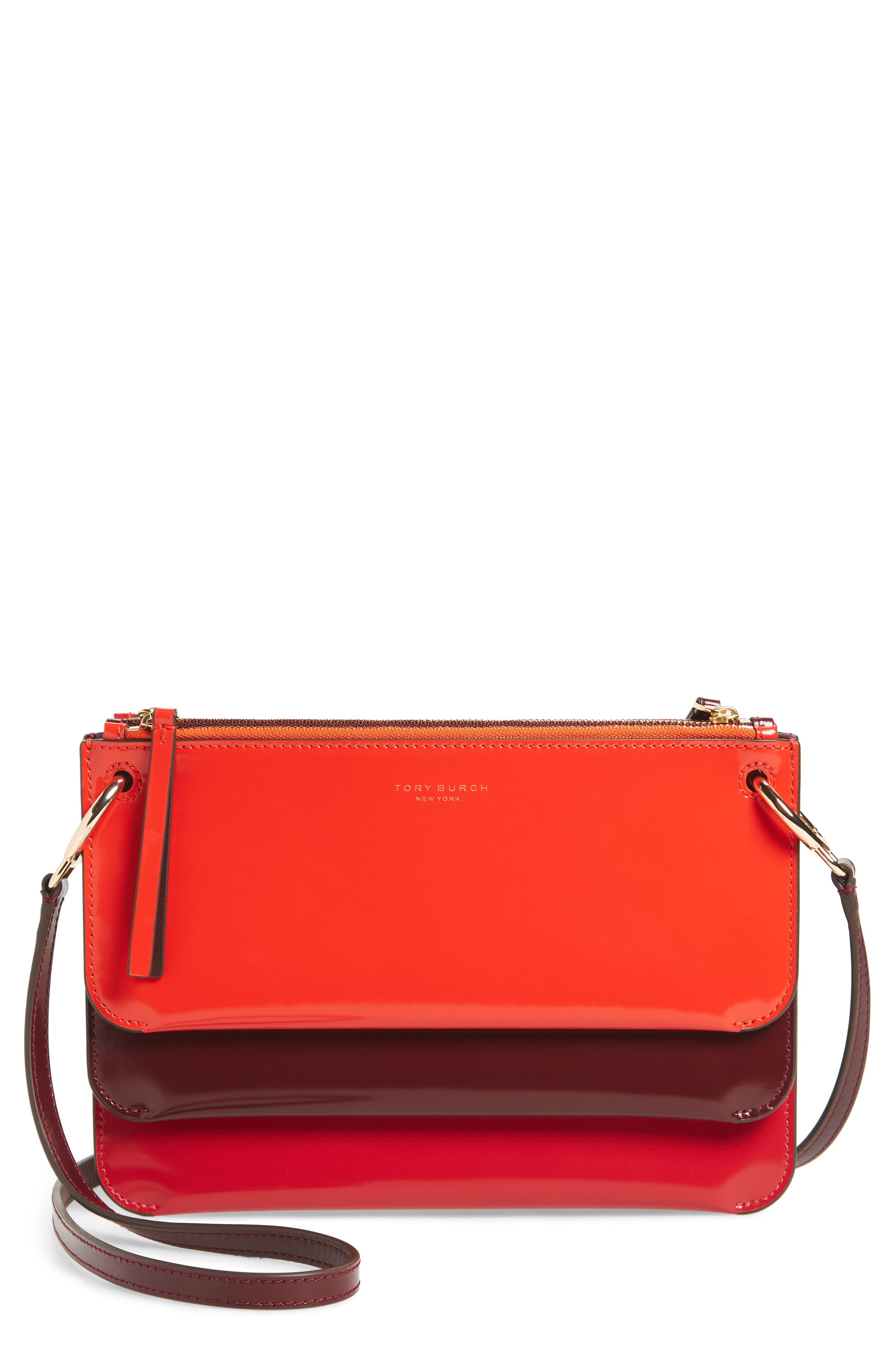 Main Image - Tory Burch Leather Accordion Crossbody Bag