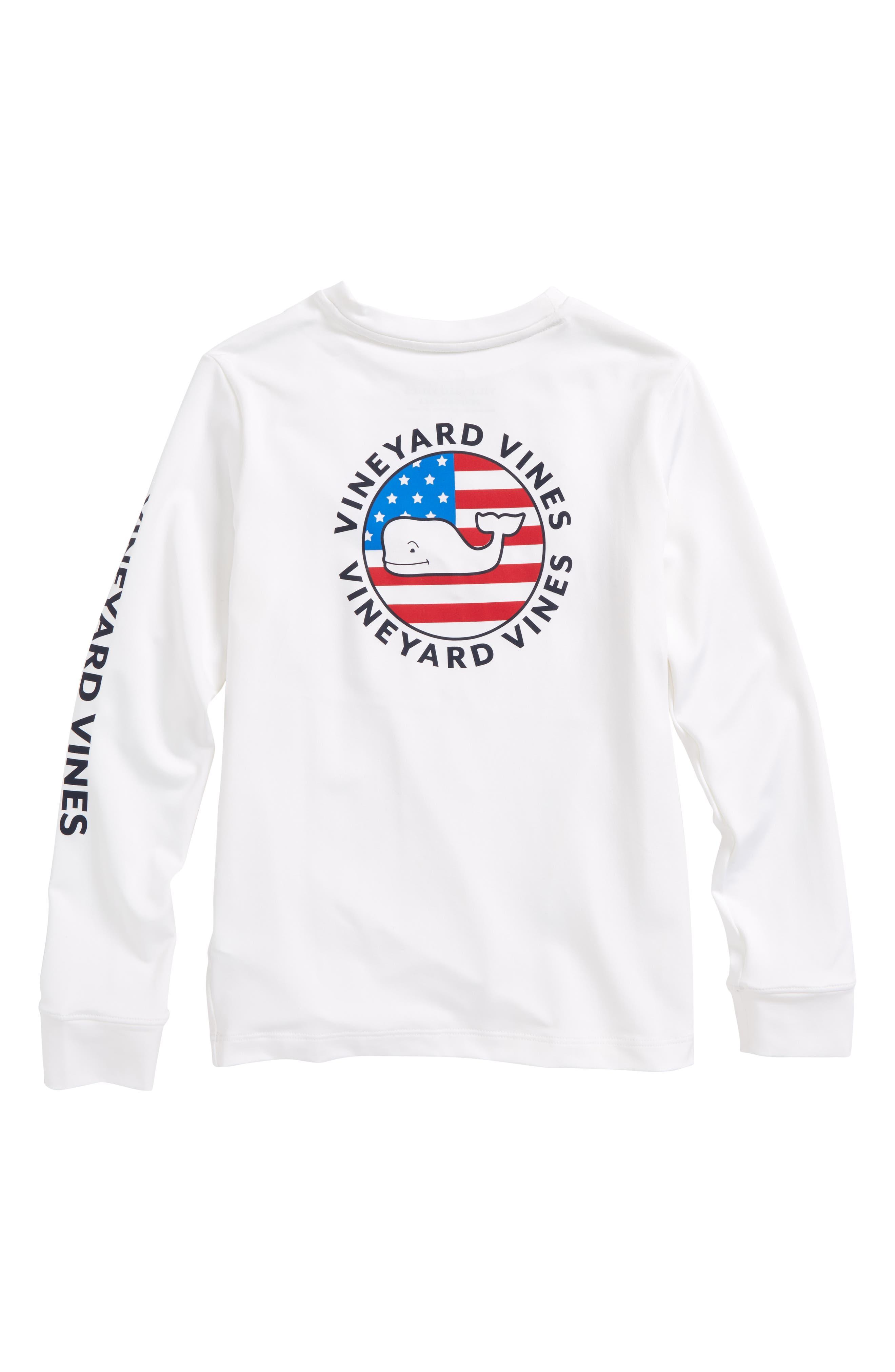 Performance Patriot Dot T-Shirt,                             Alternate thumbnail 2, color,                             White Cap