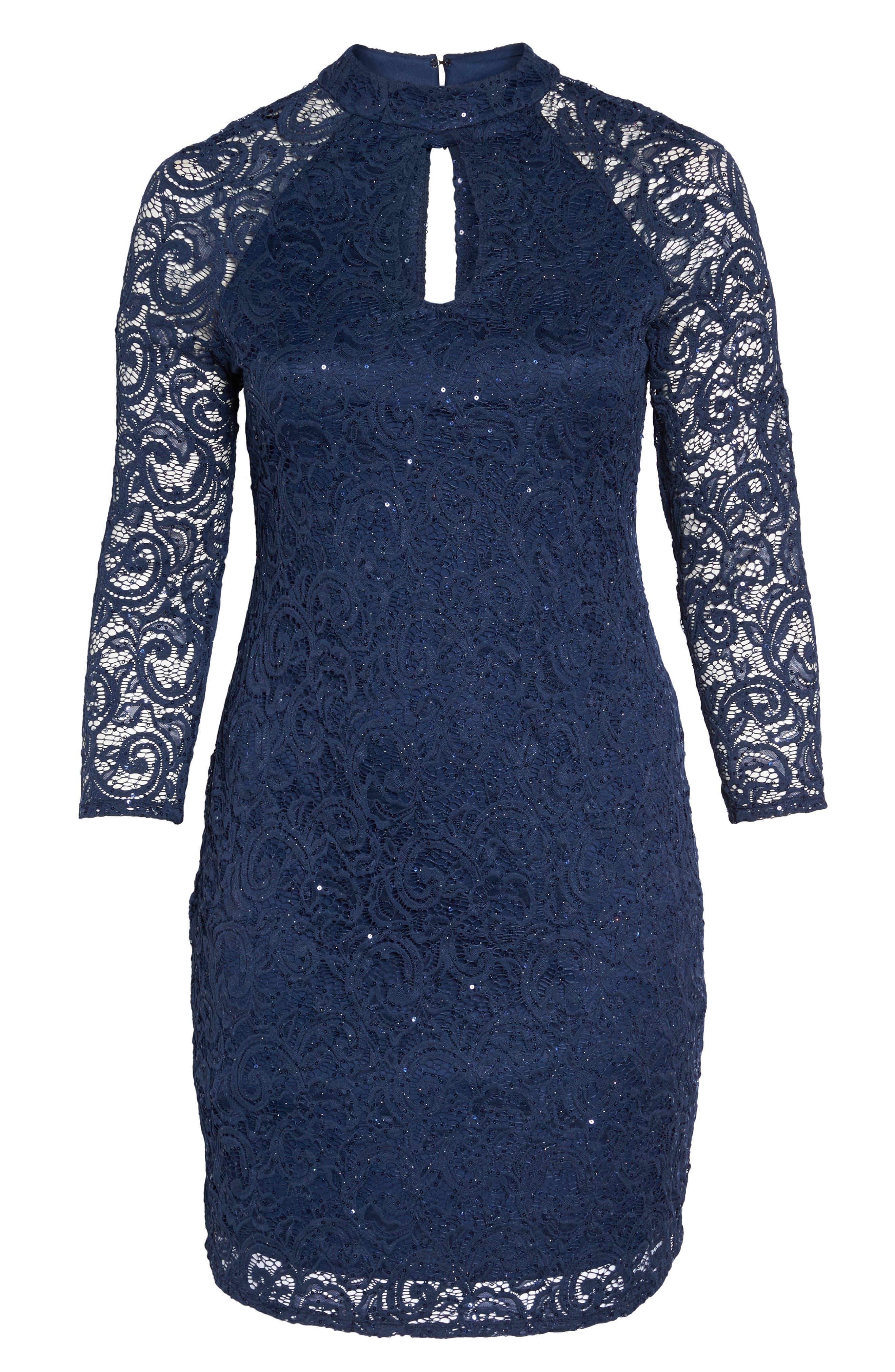 Alternate Image 6  - Marina Sequin Keyhole Sheath Dress (Plus Size)
