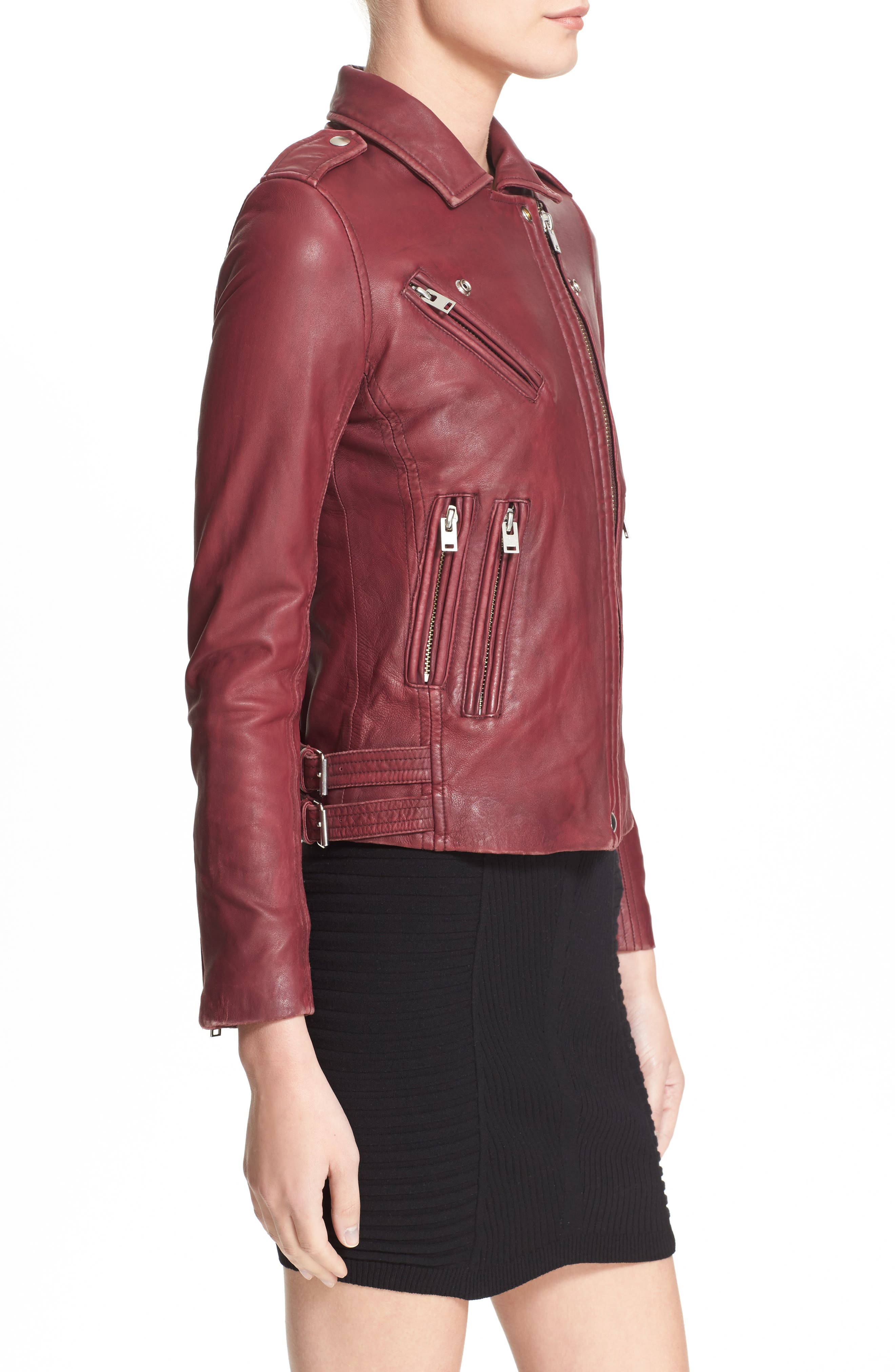 Alternate Image 4  - IRO Leather Moto Jacket