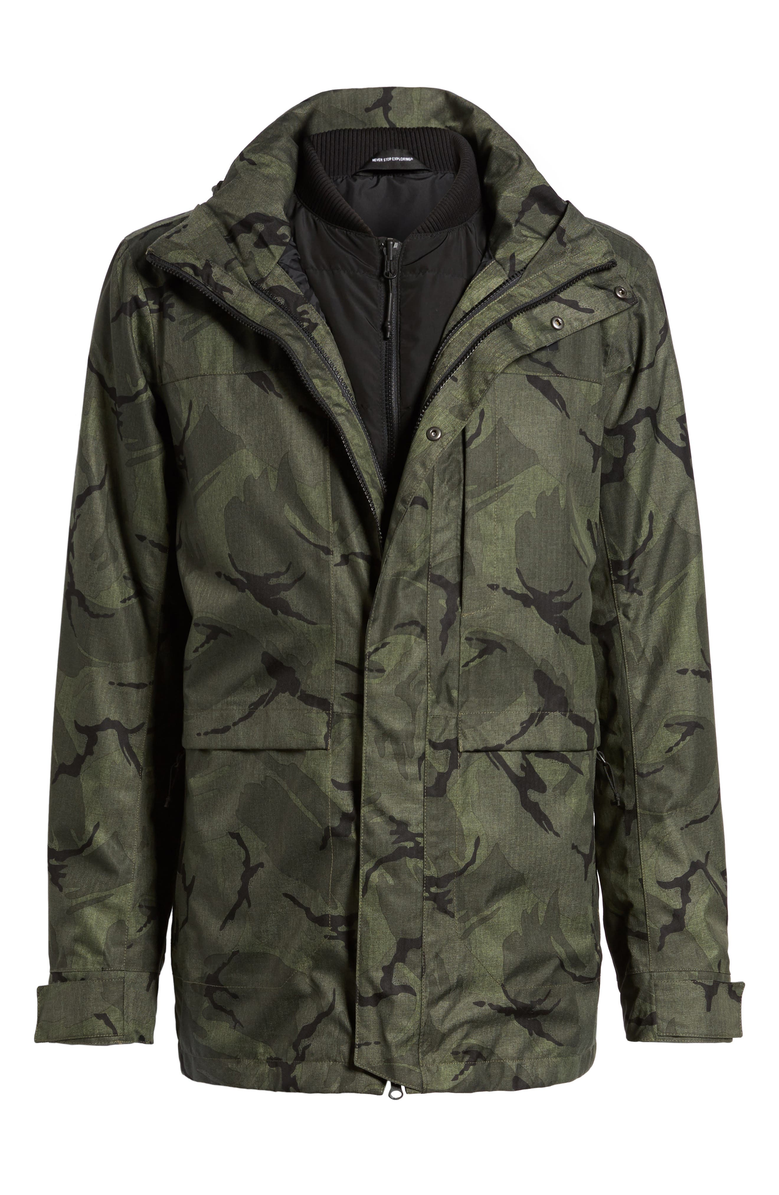 Outer Boroughs 3-in-1 TriClimate<sup>®</sup> Waterproof Parka,                             Alternate thumbnail 6, color,                             New Taupe Green Disrupt