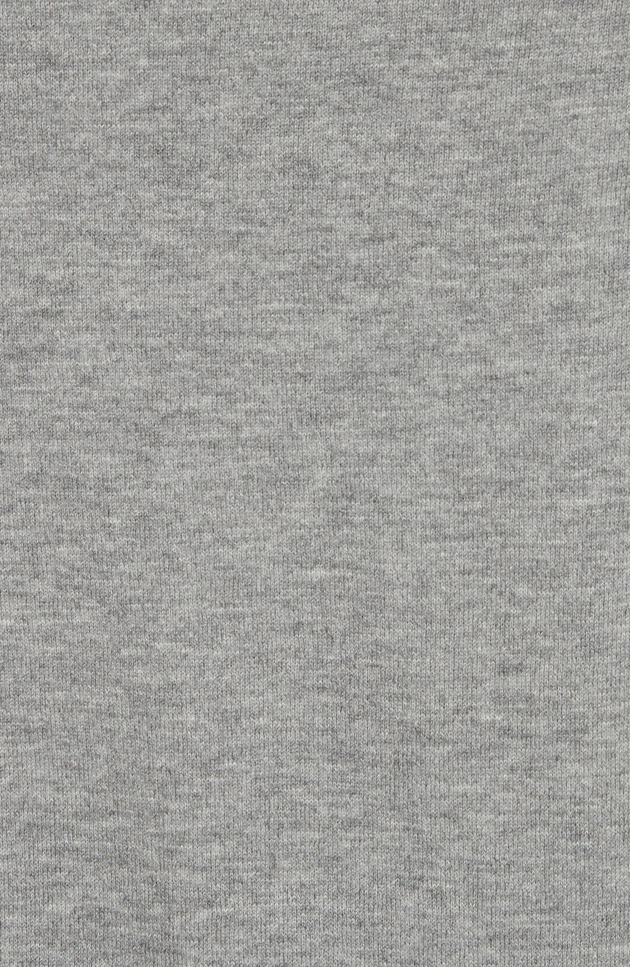 Convertible Off the Shoulder Sweater,                             Alternate thumbnail 6, color,                             Nickel Melange