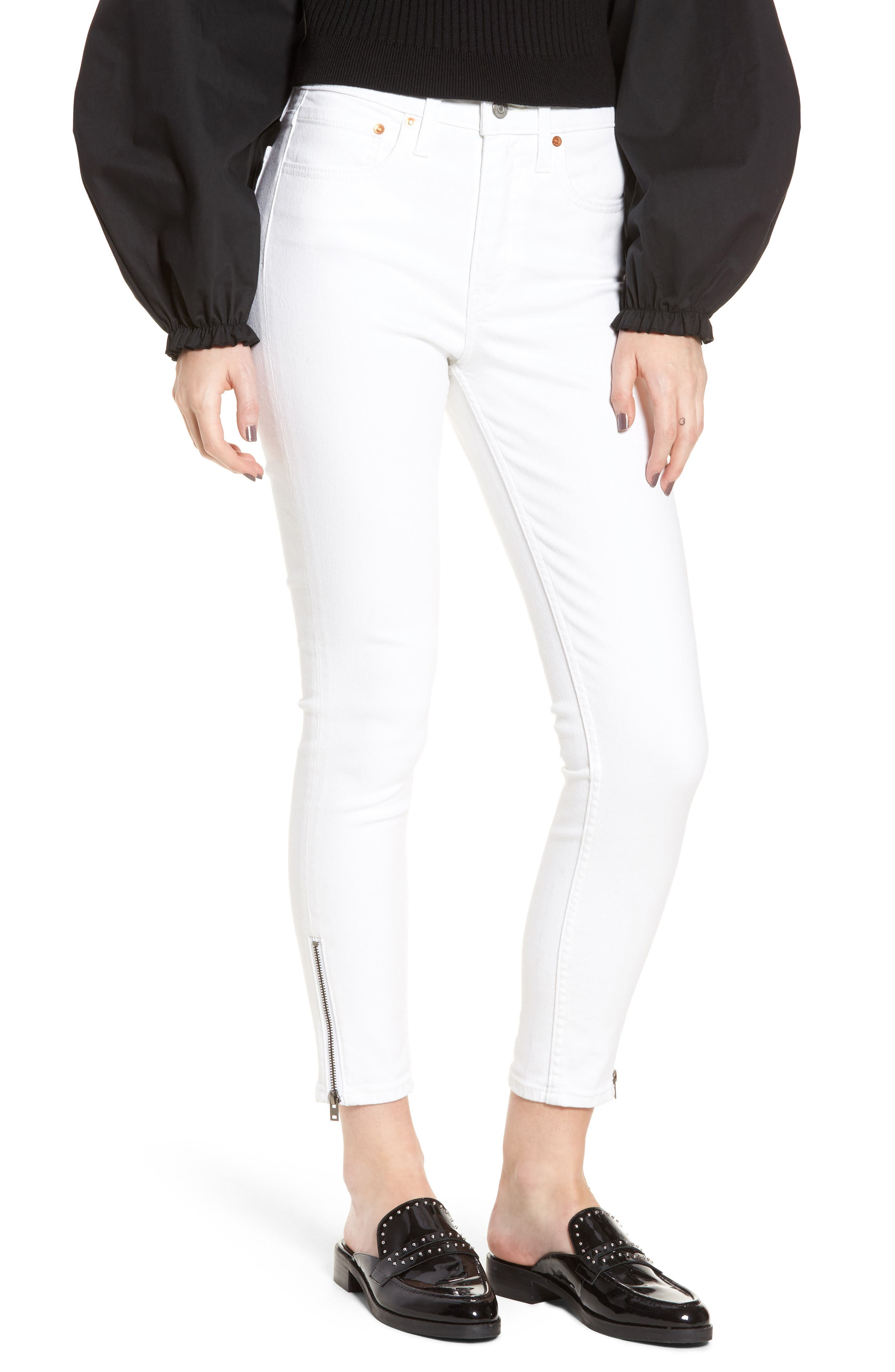 721<sup>™</sup> Altered High Rise Ankle Skinny Jeans,                             Main thumbnail 1, color,                             Seeing White