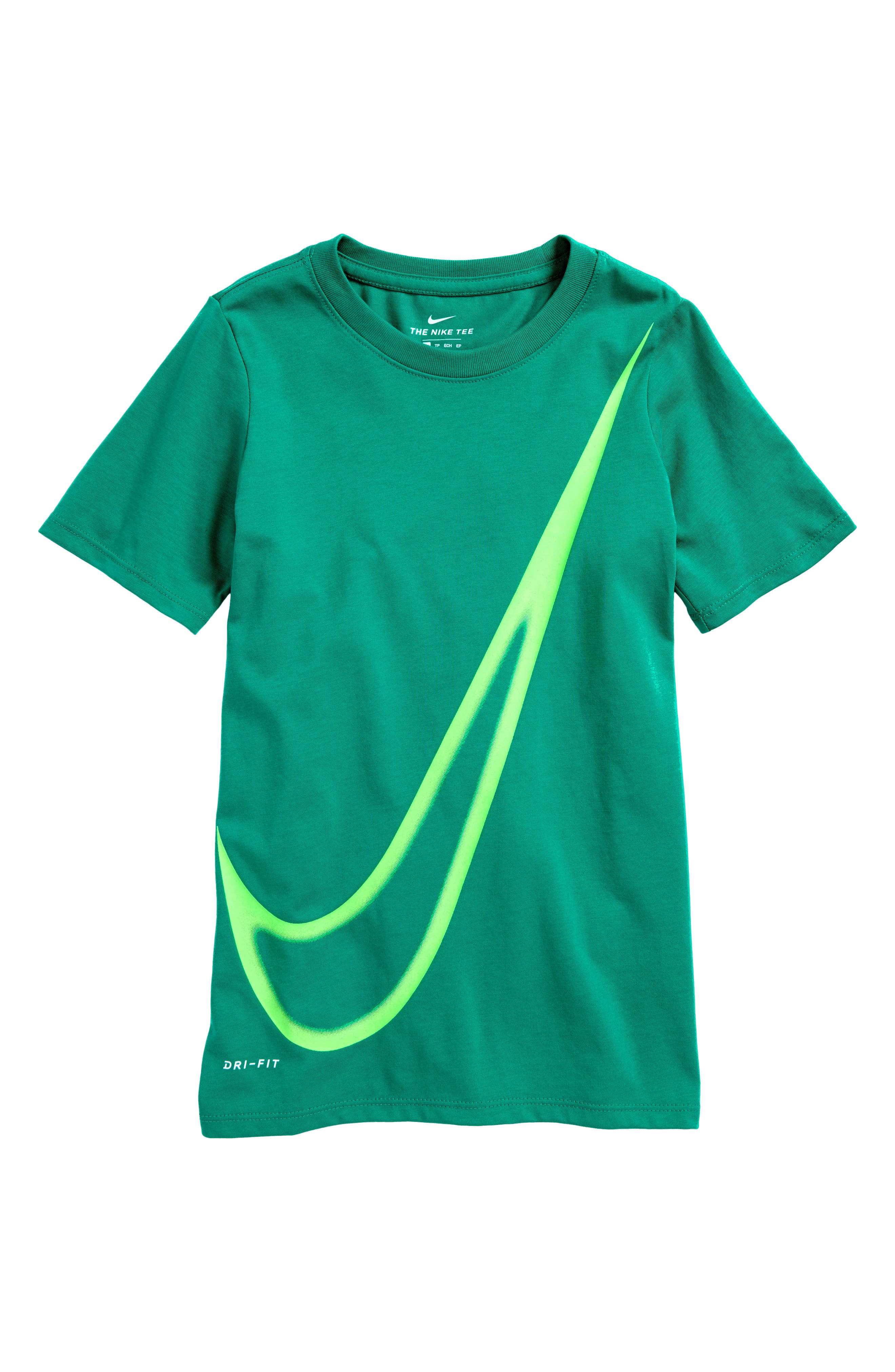 Alternate Image 1 Selected - Nike Dry Big Swoosh Graphic T-Shirt (Little Boys & Big Boys)