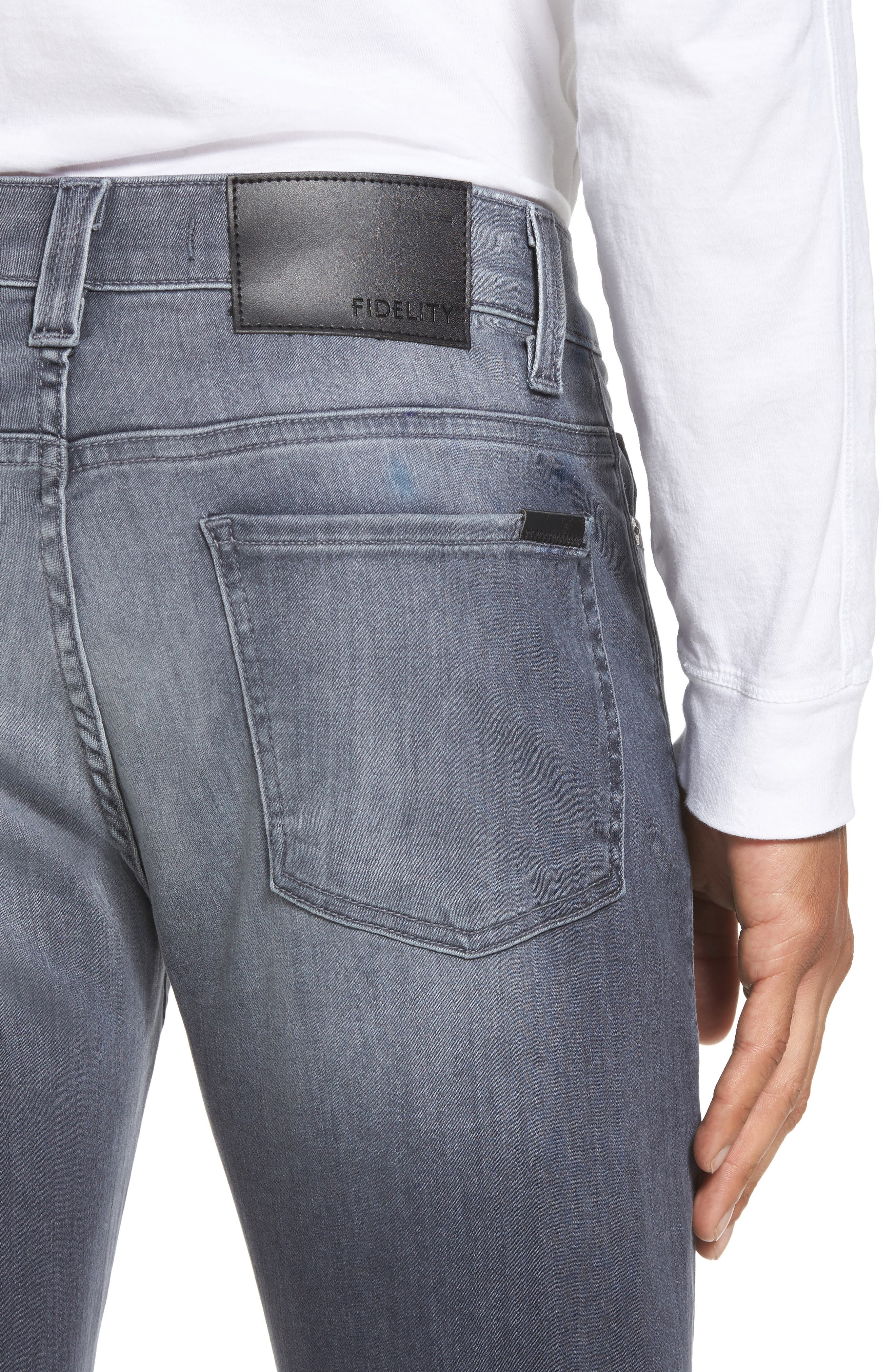 Alternate Image 4  - Fidelity Denim Torino Slim Fit Jeans (Fade To Grey)