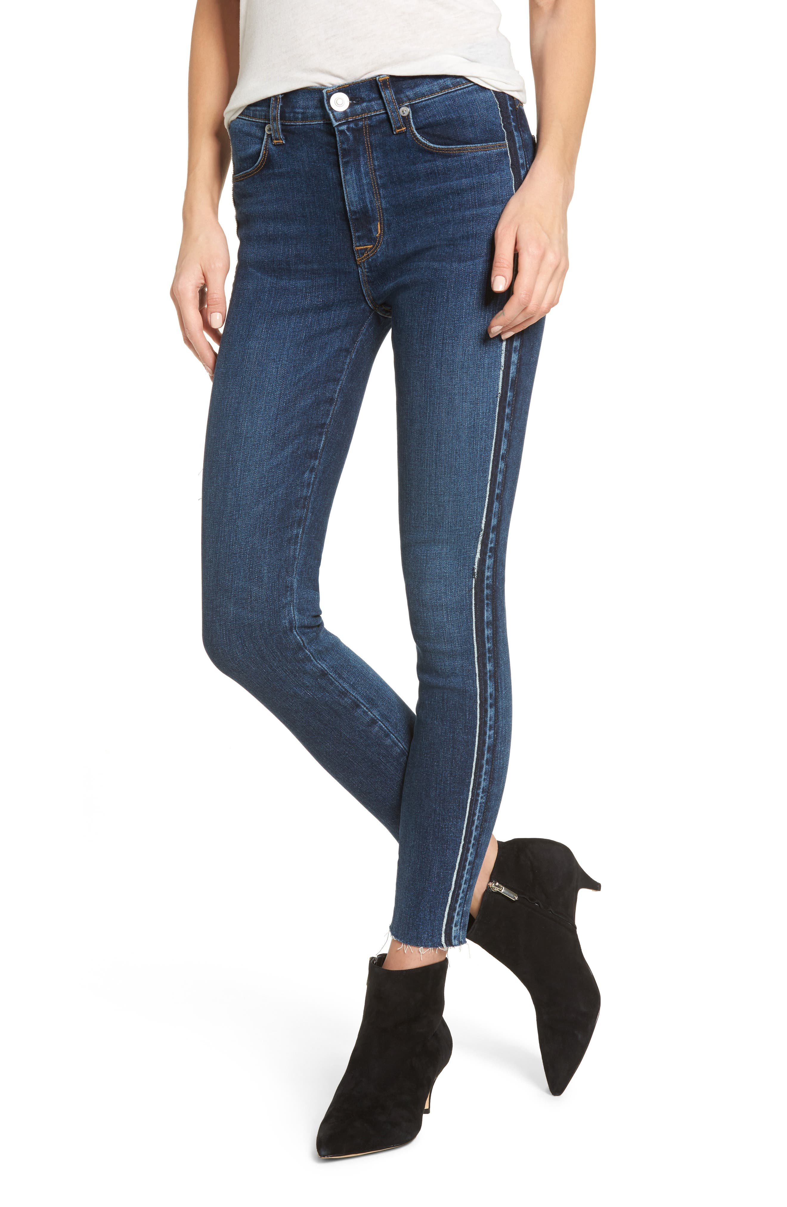 Alternate Image 1 Selected - Hudson Jeans Barbara High Waist Super Skinny Jeans (Fatal)