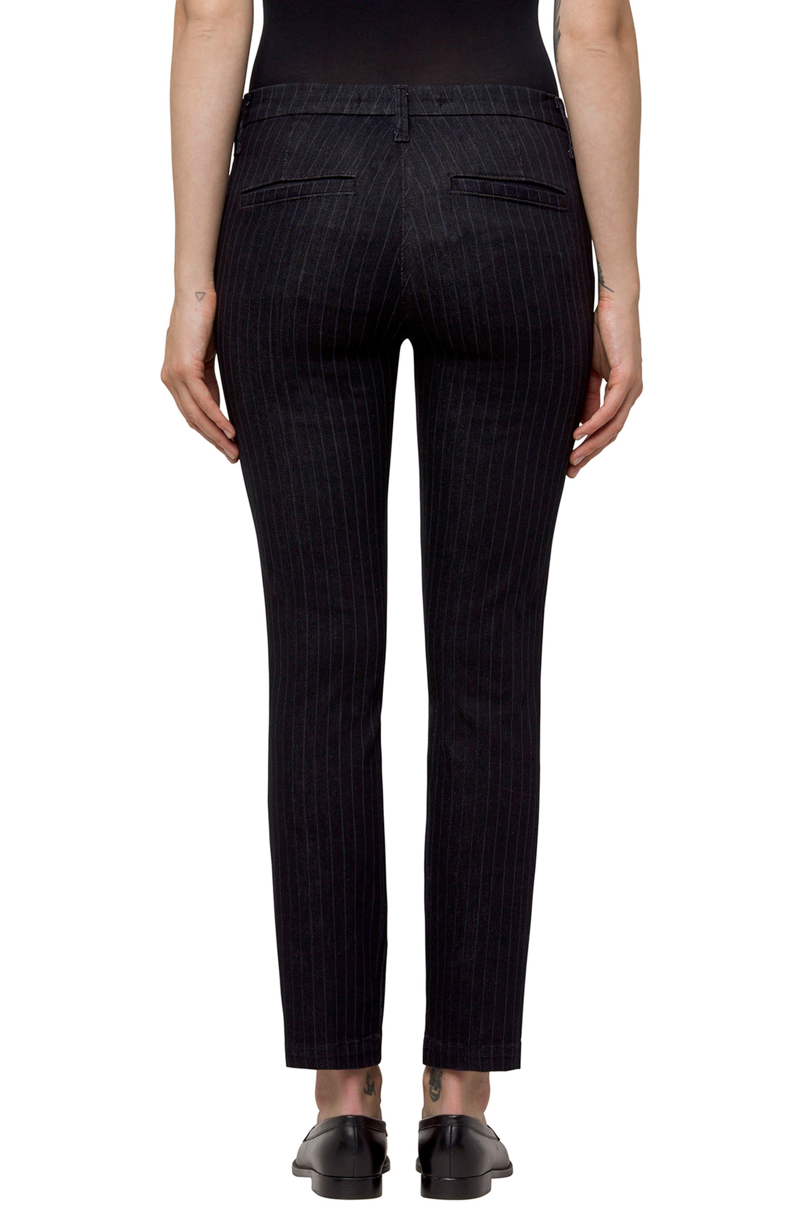 Clara Stripe Ankle Trousers,                             Alternate thumbnail 2, color,                             Pinstripe