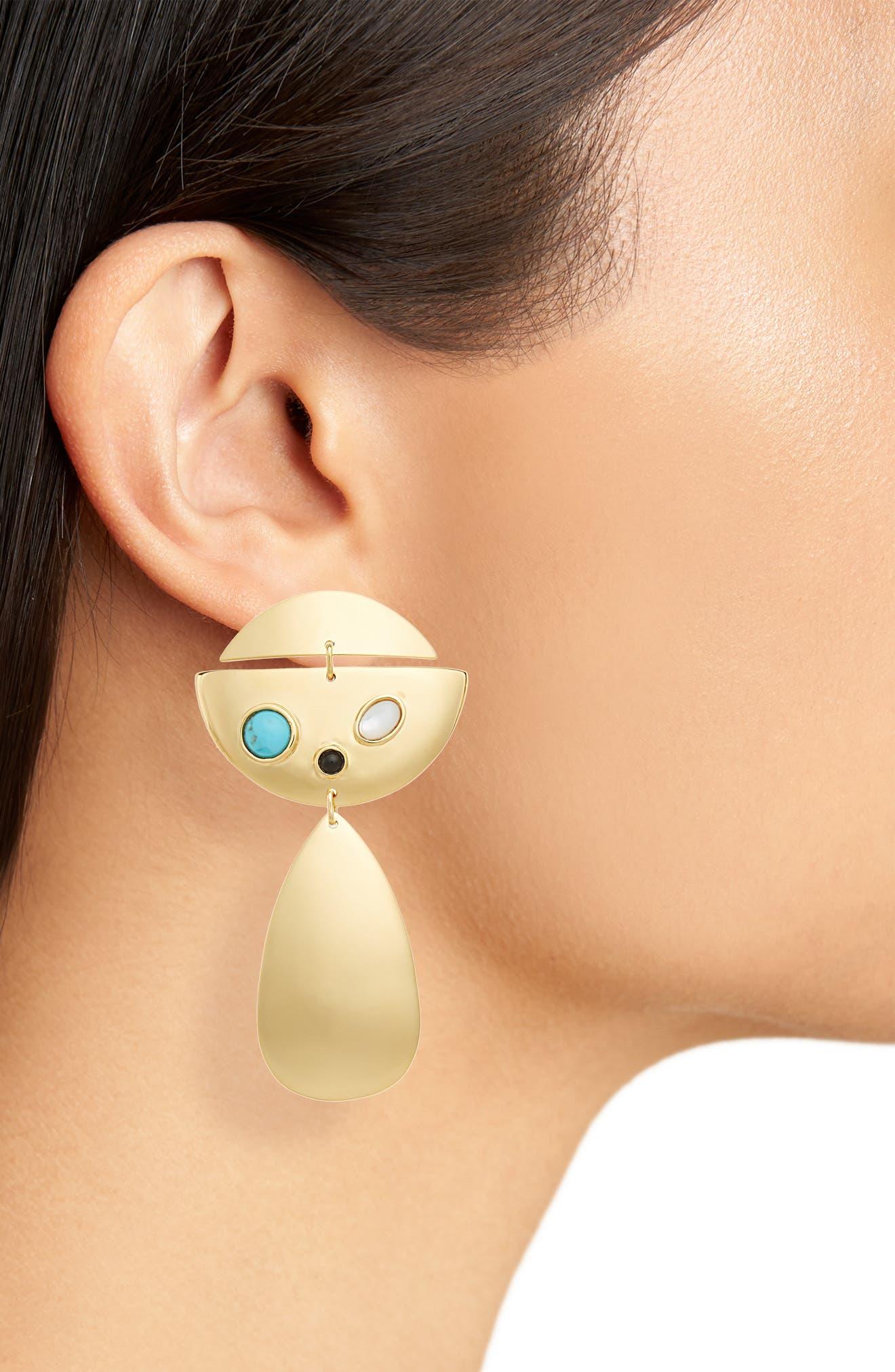 Lizze Fortunato Cove Drop Earrings,                             Alternate thumbnail 2, color,                             Gold