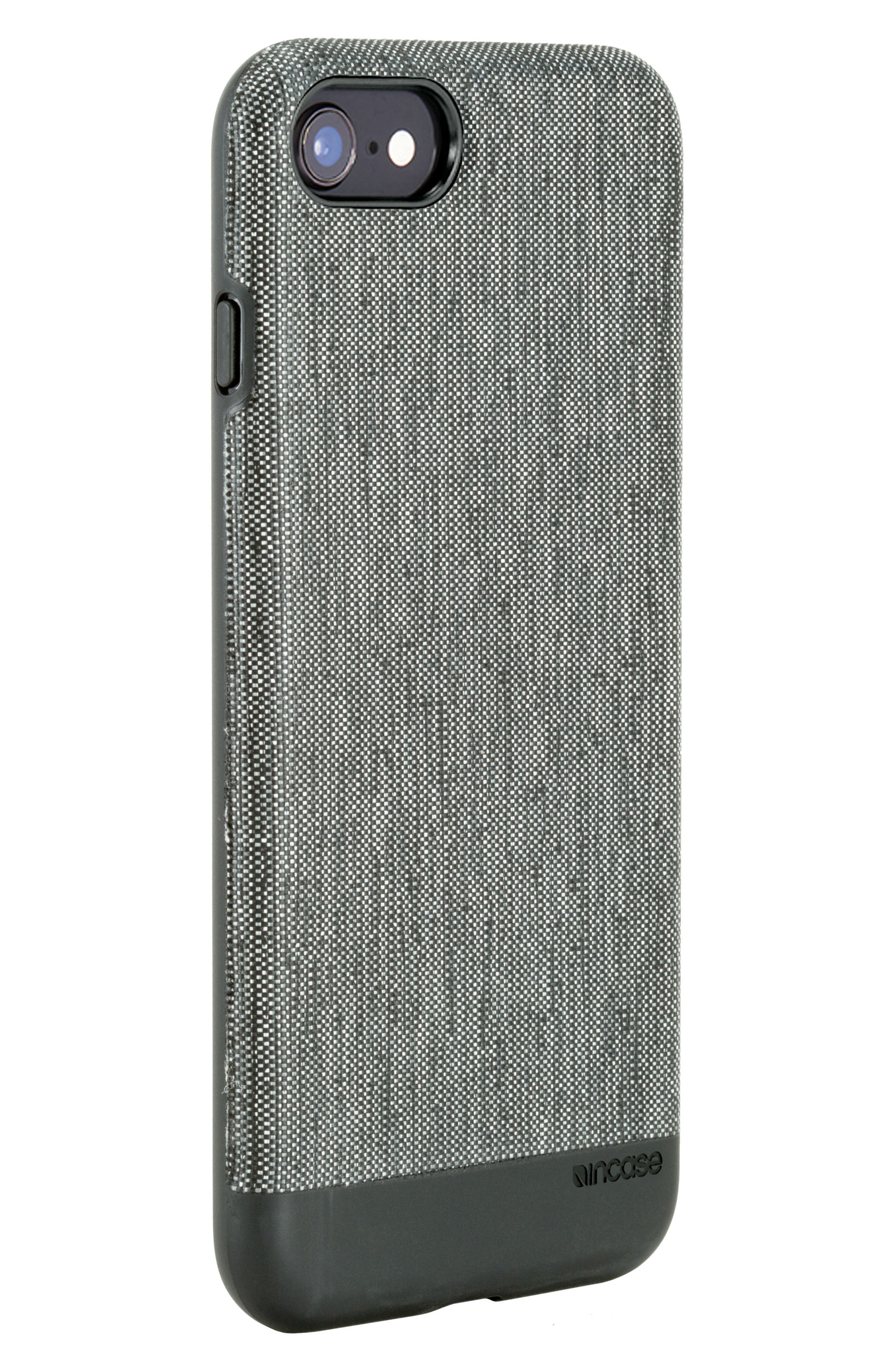 Textured Snap iPhone 7/8 Case,                             Alternate thumbnail 4, color,                             Grey Diamond Ripstop