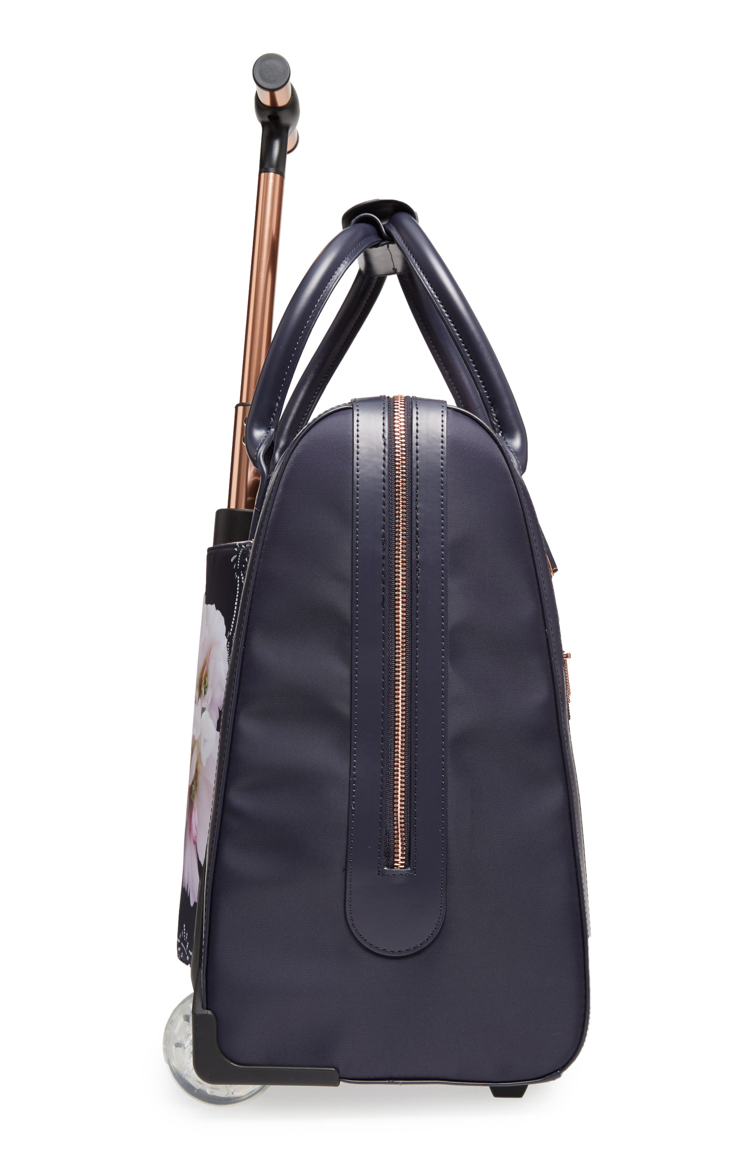 Keturah Gardenia Travel Bag,                             Alternate thumbnail 4, color,                             Dark Blue