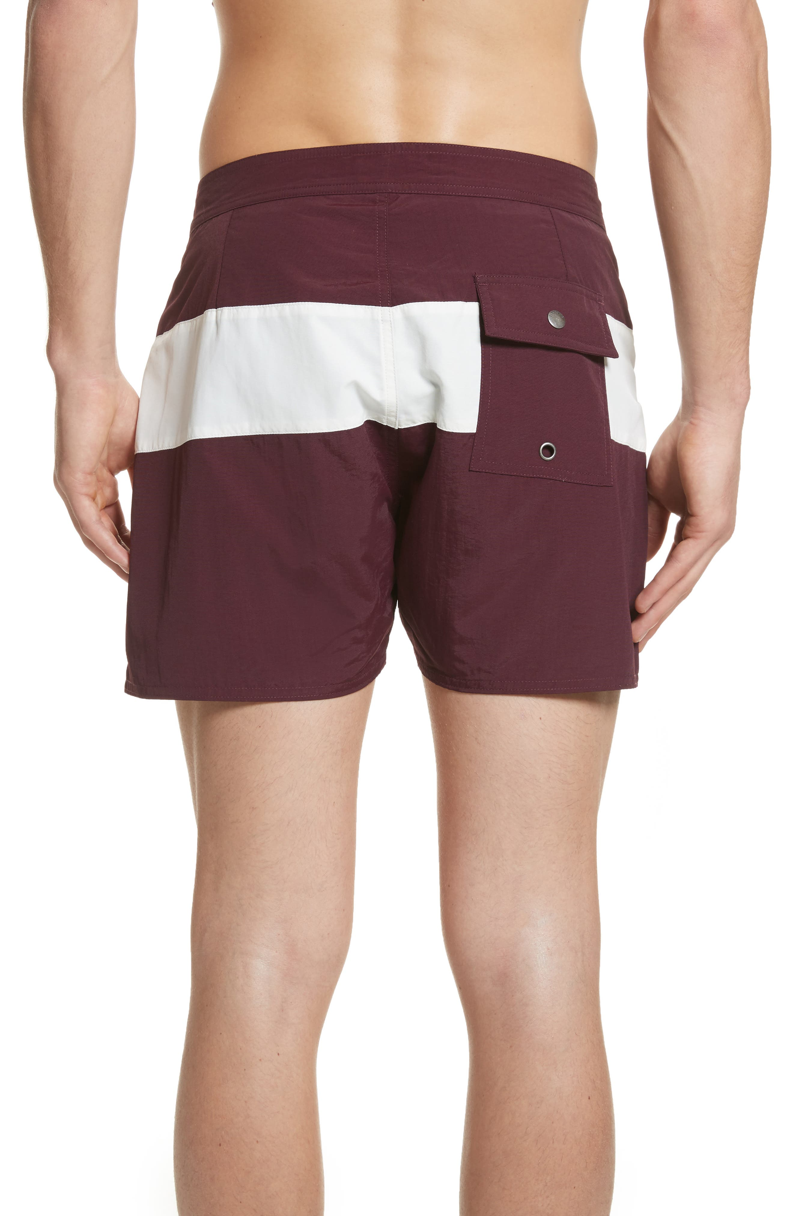 Grant Board Shorts,                             Alternate thumbnail 2, color,                             Dark Mauve/Ivory