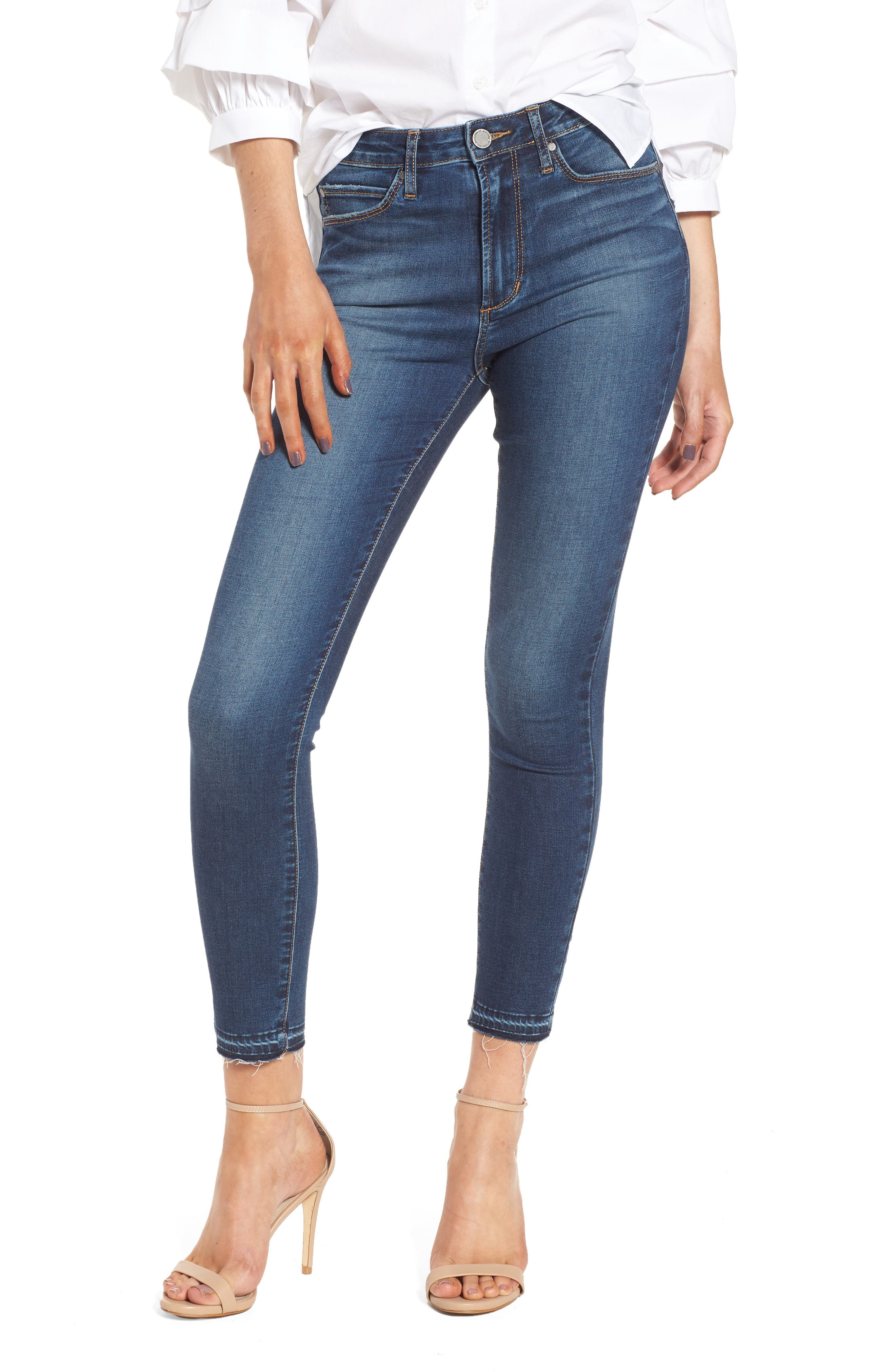 Heather High Waist Crop Skinny Jeans,                         Main,                         color, Bilbao