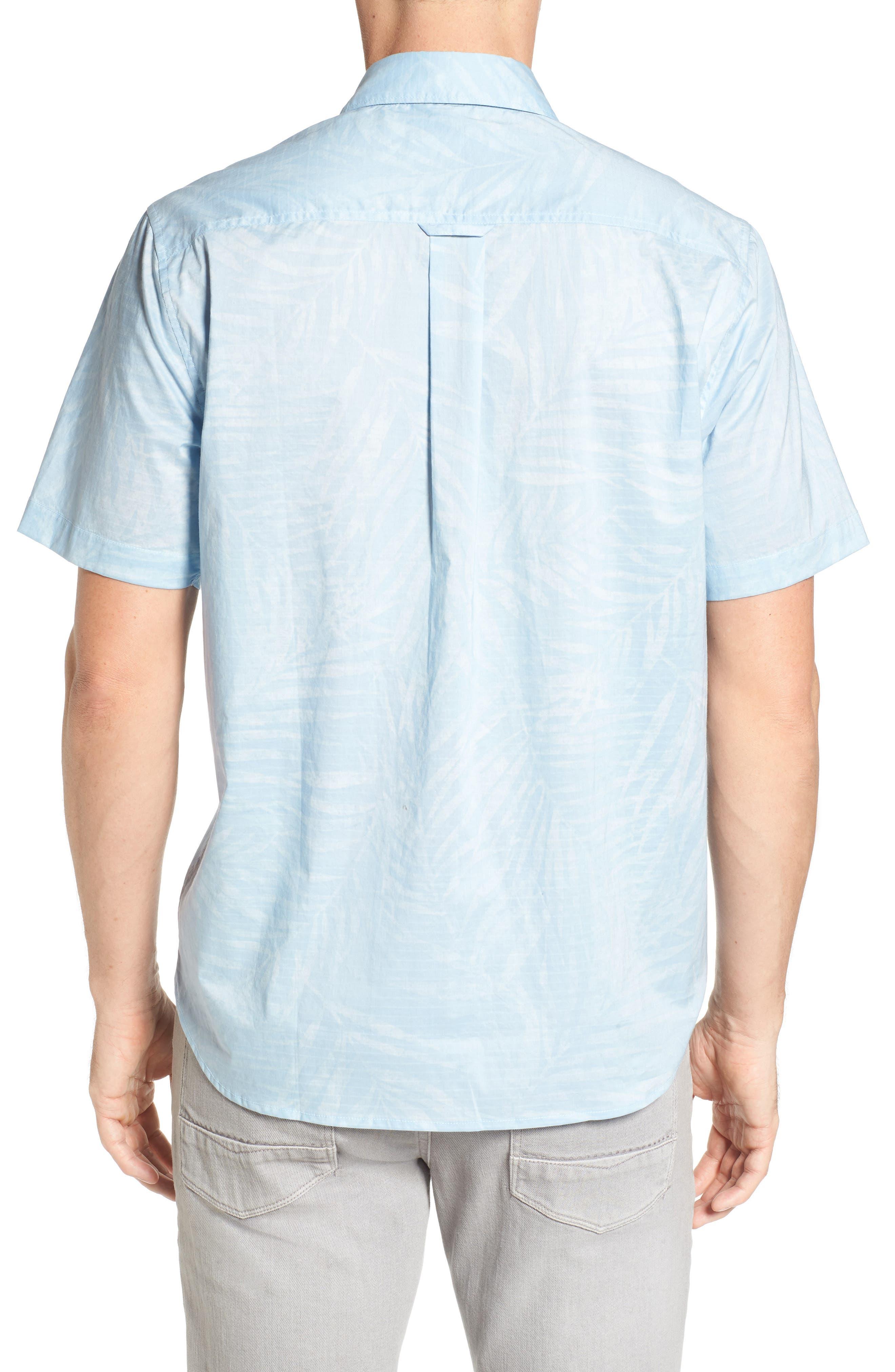 Vero Fronds Sport Shirt,                             Alternate thumbnail 2, color,                             Opal