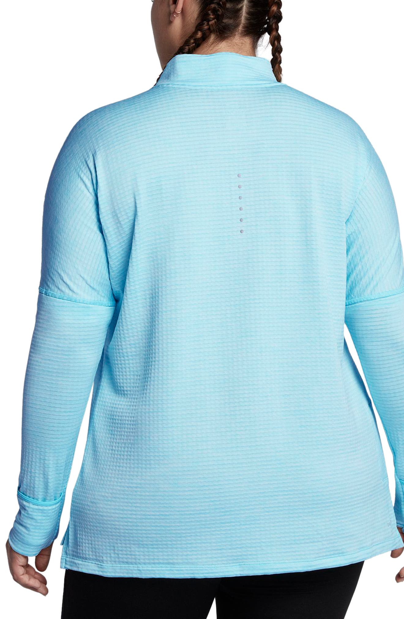 Alternate Image 2  - Nike Sphere Element Long Sleeve Running Top (Plus Size)