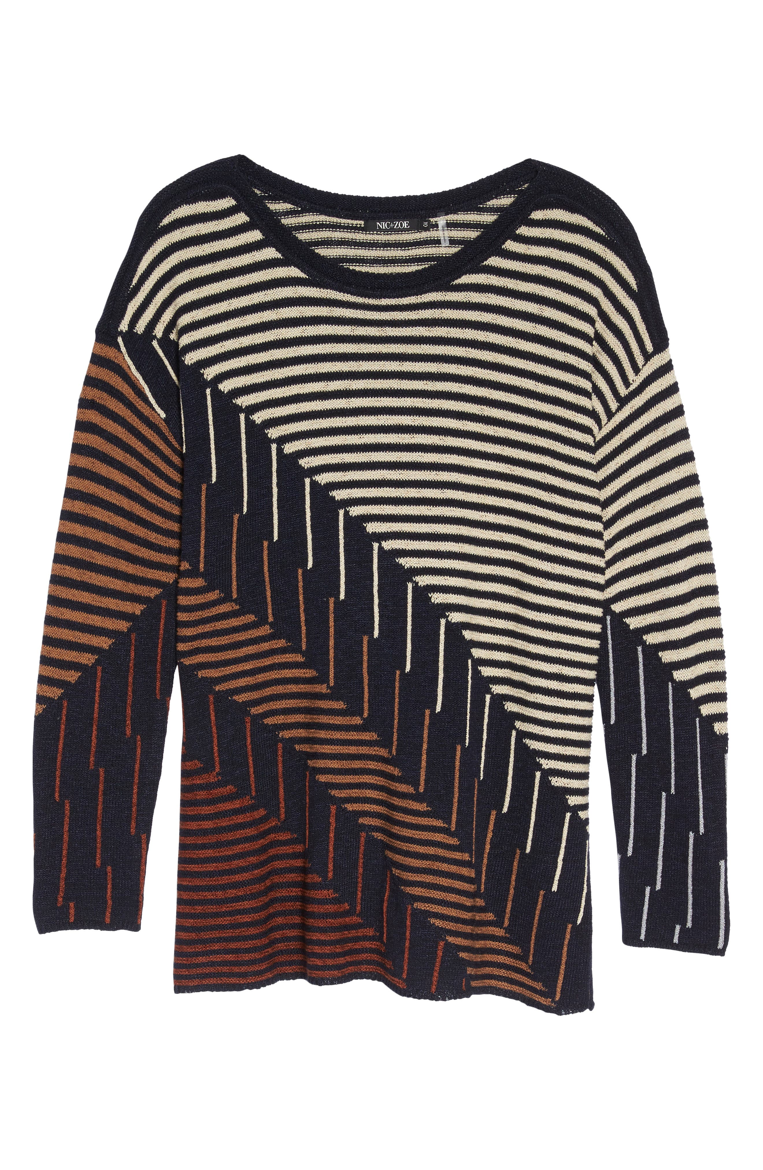 Alternate Image 6  - NIC+ZOE Lagoon Sweater (Plus Size)