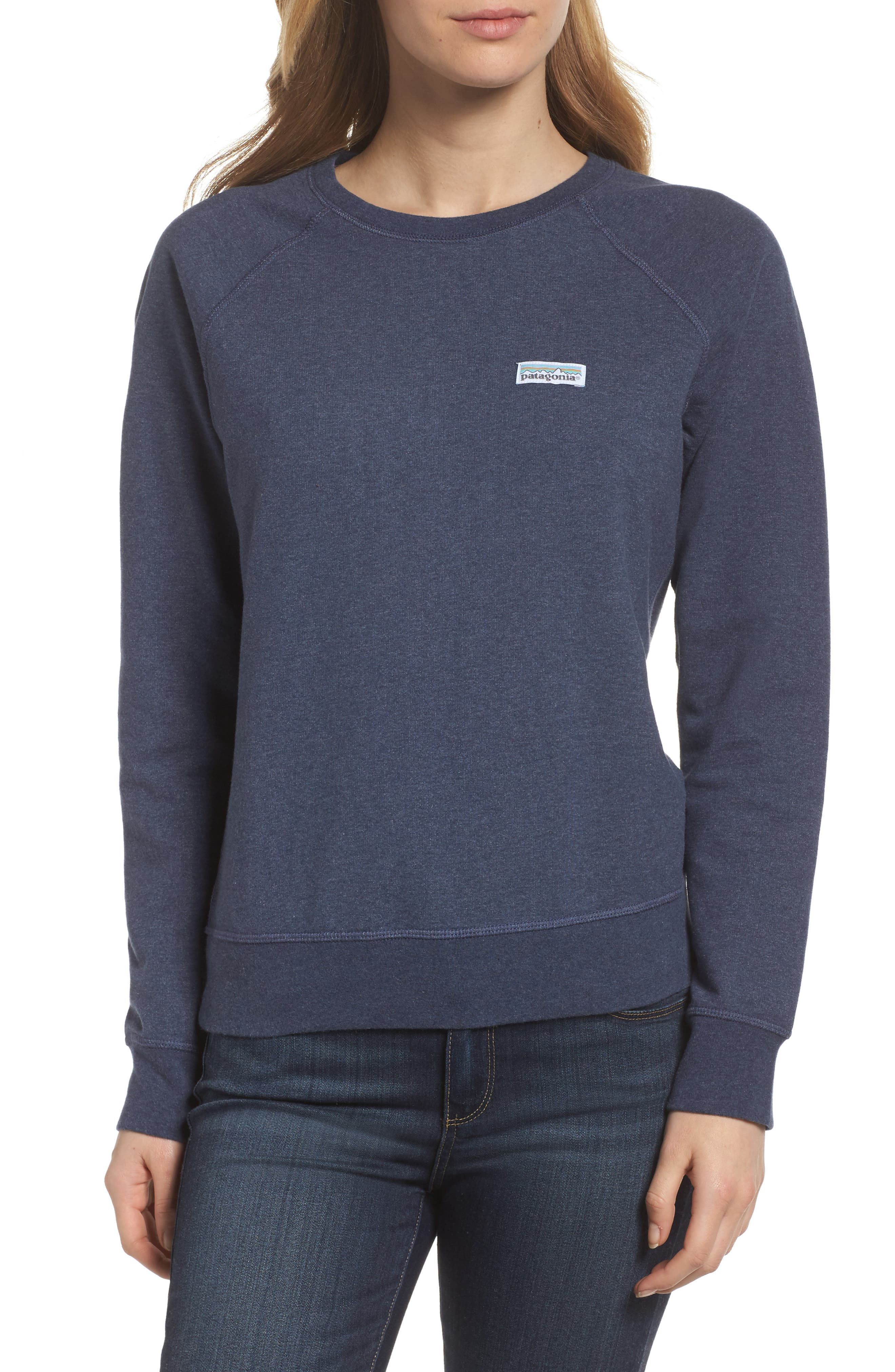 Pastel P-6 Label Midweight Sweatshirt,                             Main thumbnail 1, color,                             Classic Navy
